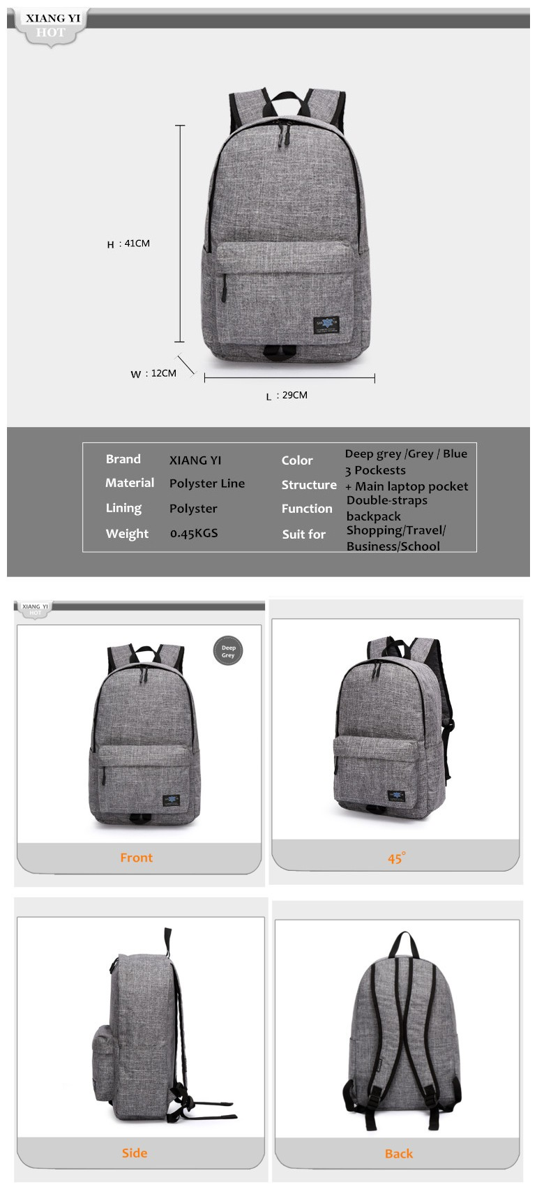 20 Inch Laptop Backpack bylVLw1U