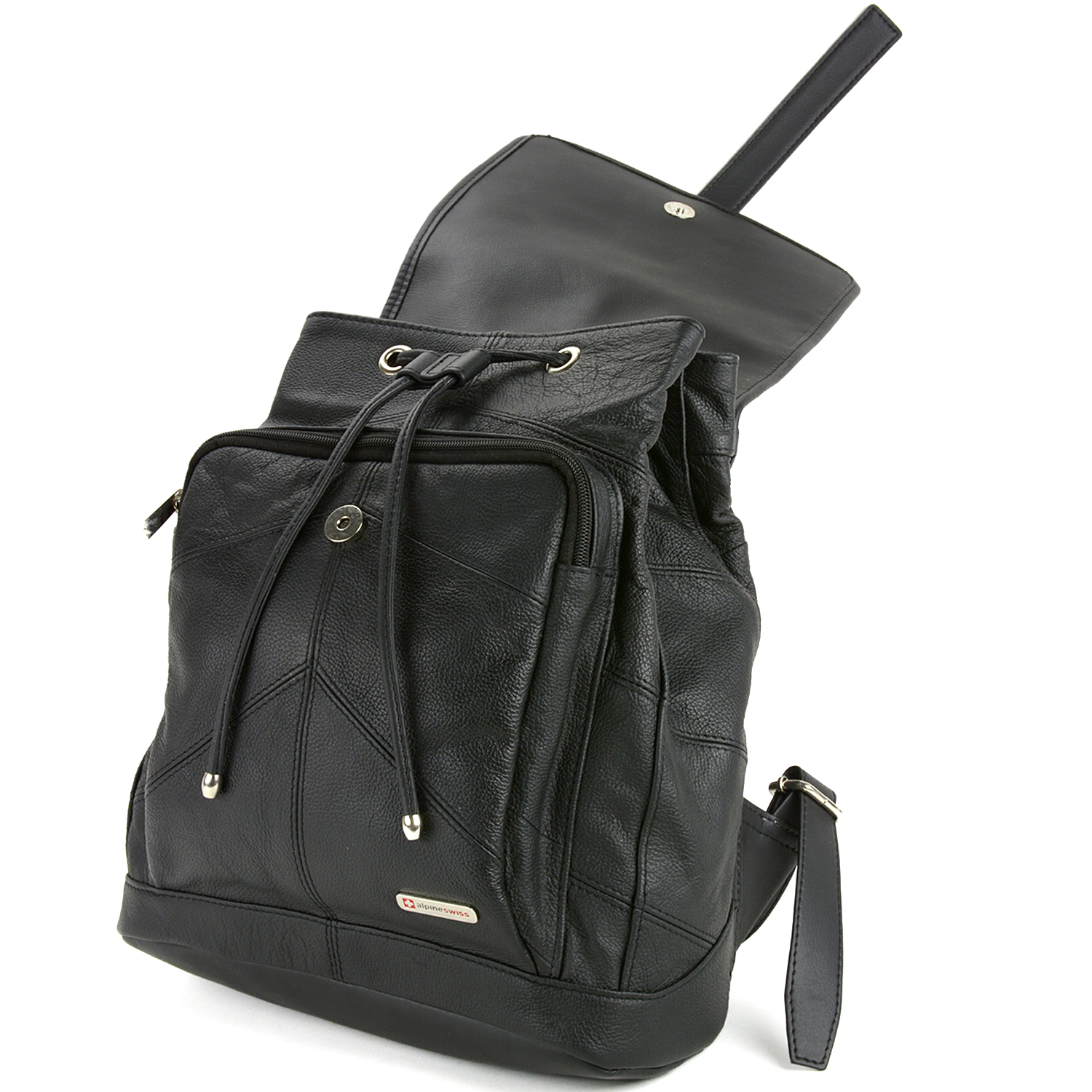 Black Leather Backpack Purse JuJWDTGe
