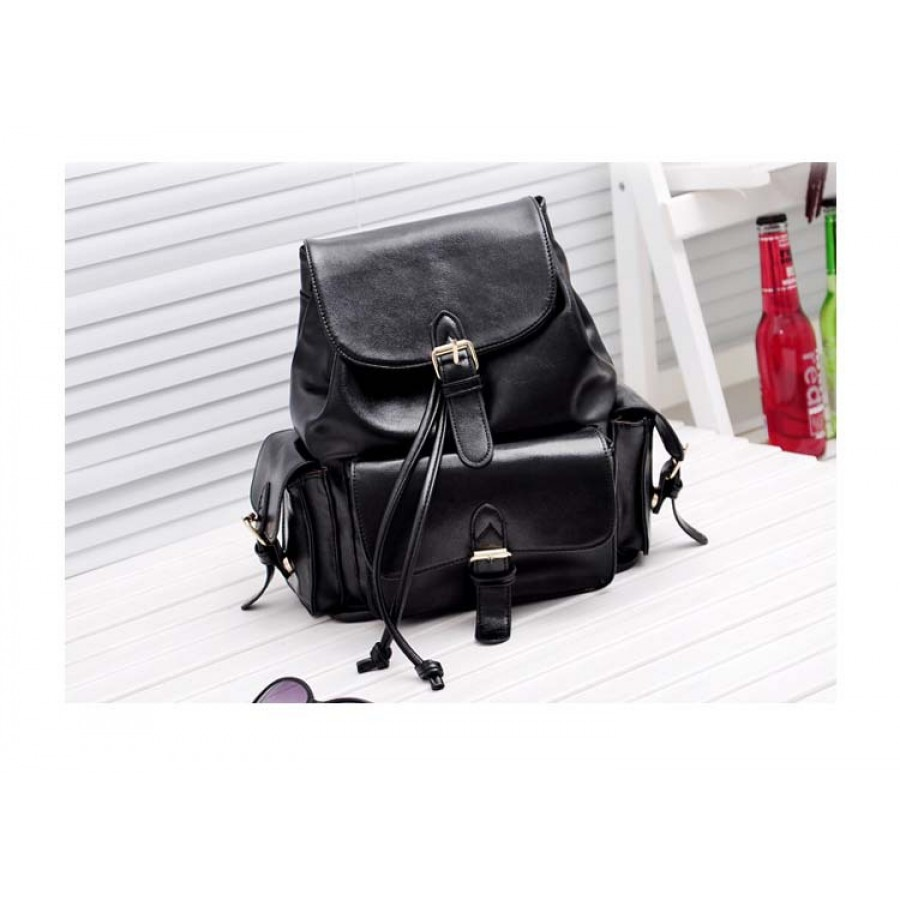 Black Leather Backpack Women CkihGzJt
