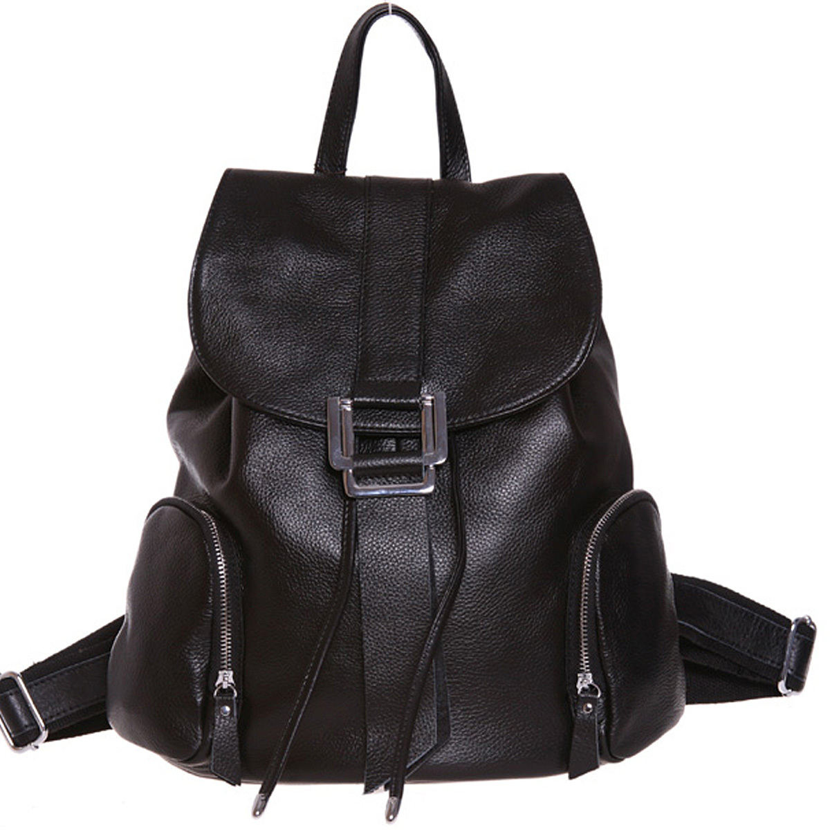 Black Leather Backpack Women cR30HKS4