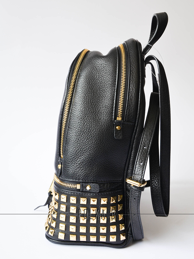 8b5261c2a956 michael kors black leather studded backpack jet set chain tote macy's