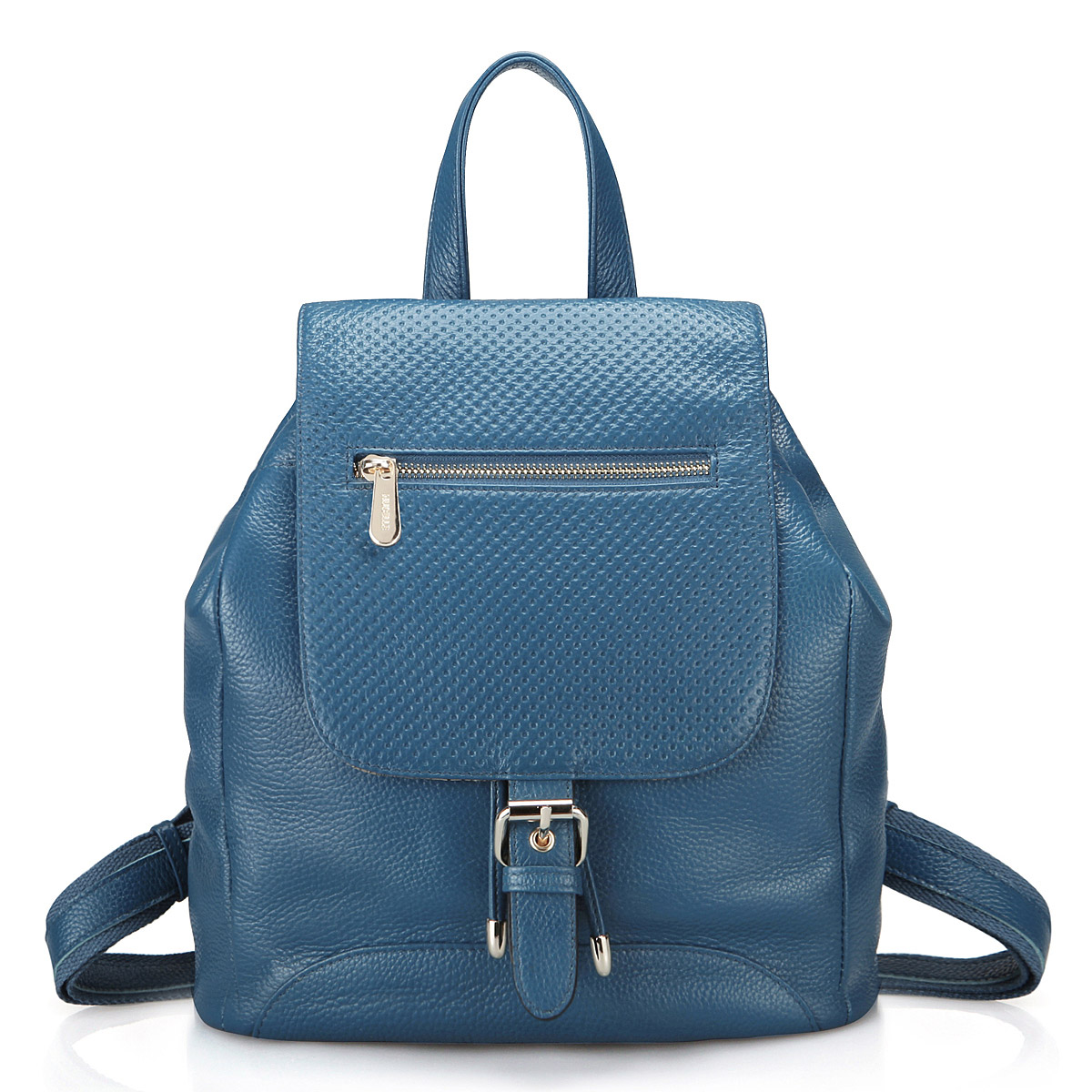 Blue Leather Backpack NgjTOeDS