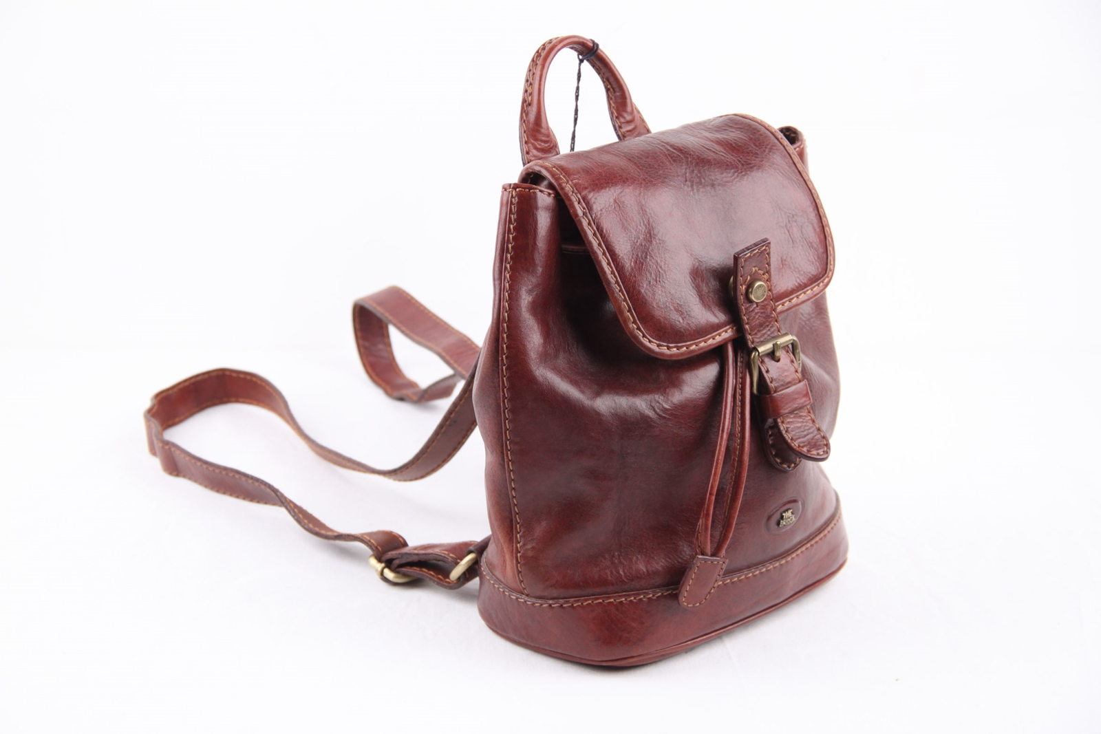 Brown Leather Backpack Purse aBT6Df9E