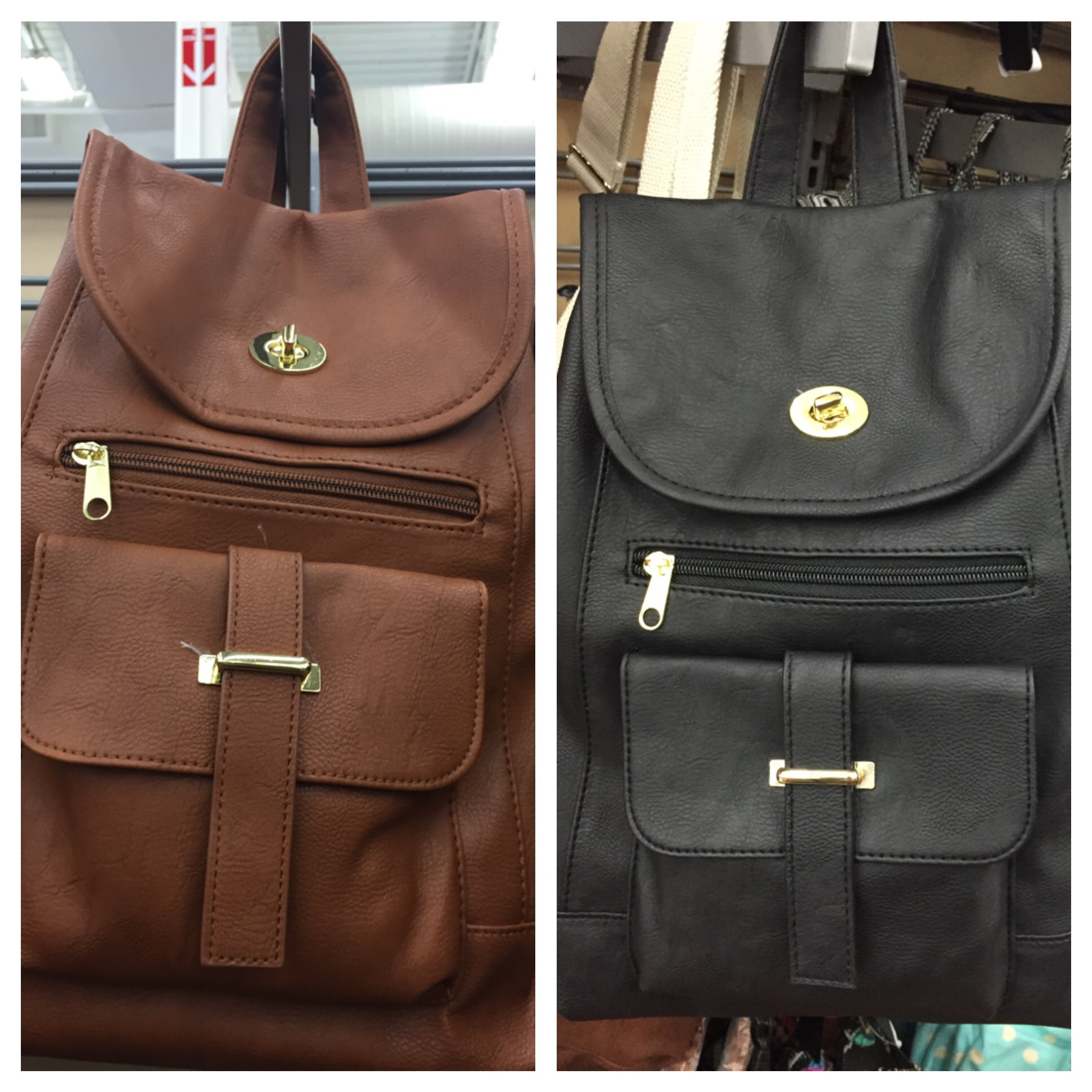 Brown Leather Backpack Purse xnUXDZIb