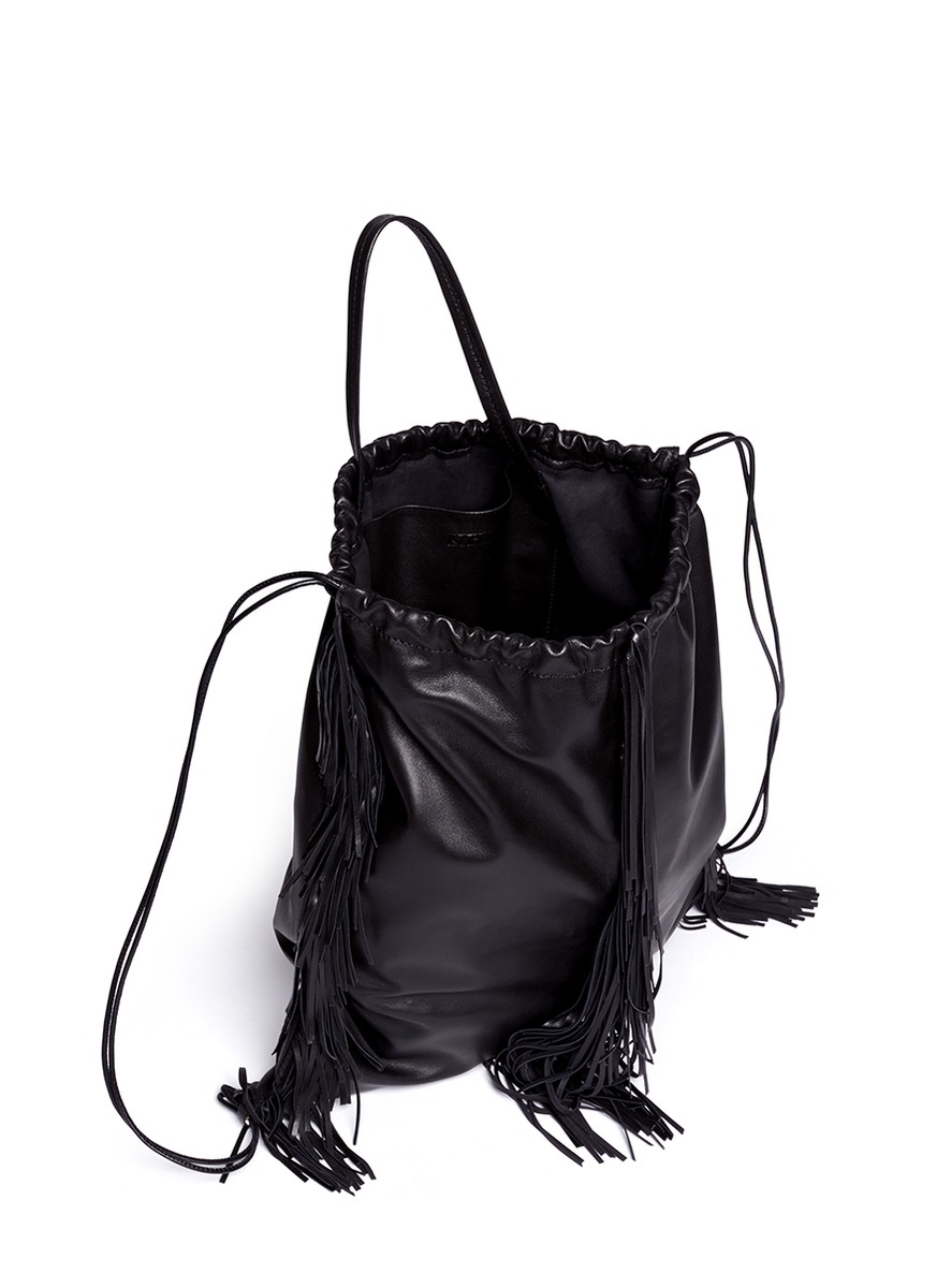 Drawstring Leather Backpack HVxsK9Fz