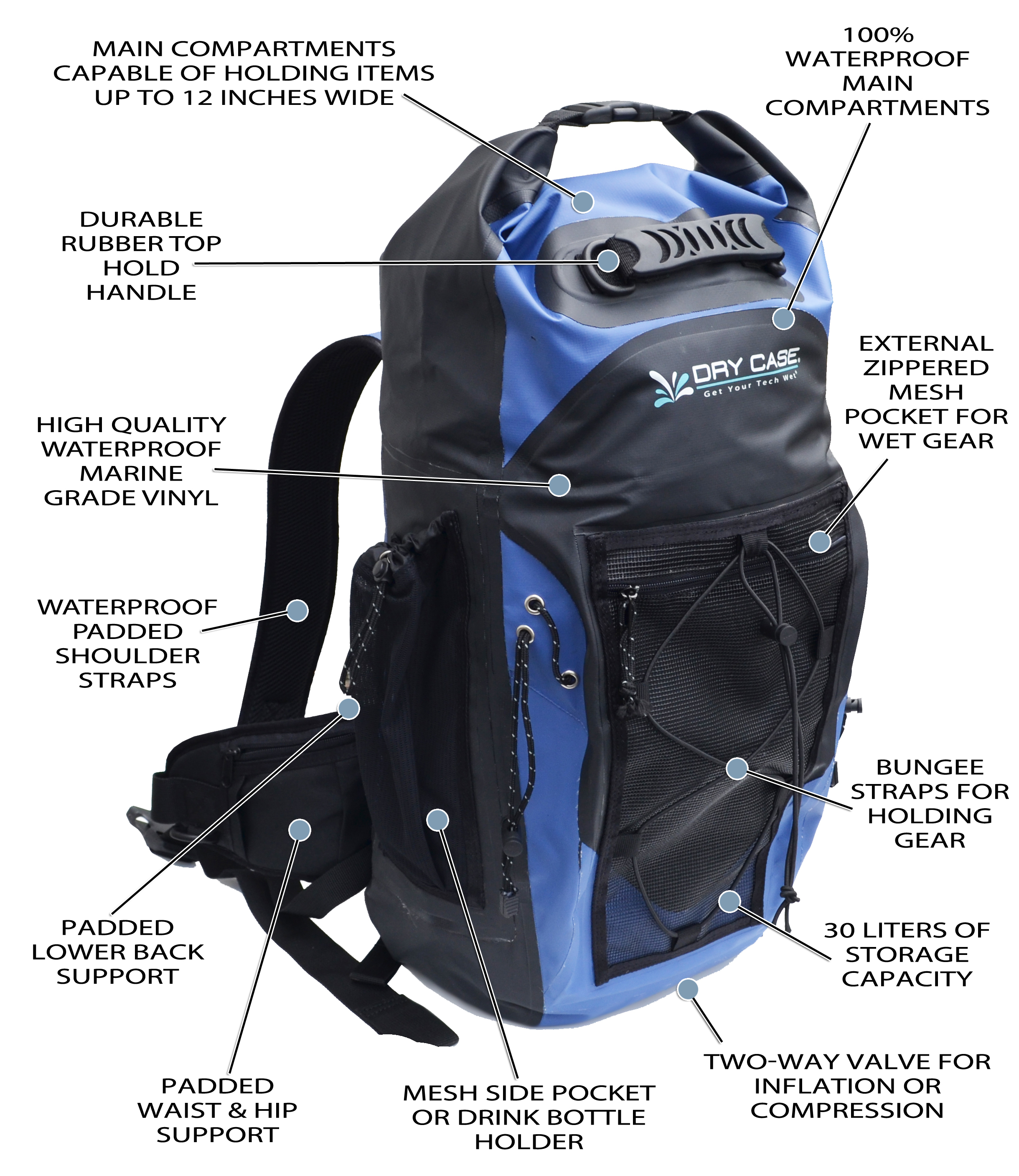 Drycase Waterproof Backpack XM8xJE0e
