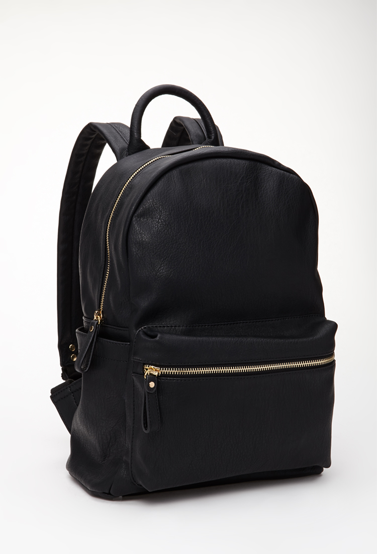 Fake Leather Backpack yXOP1vRT