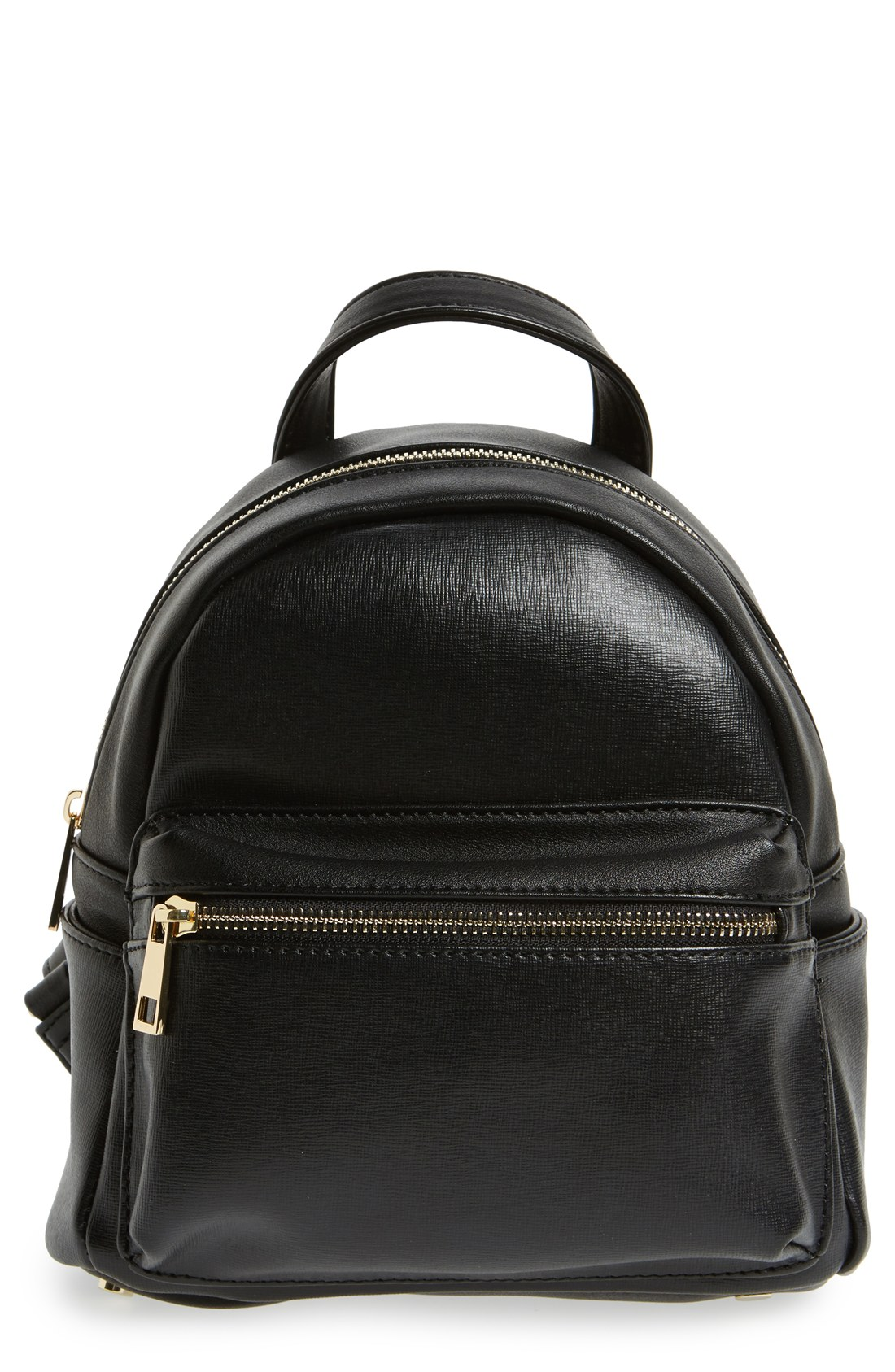 5e13672ddb Black Faux Leather Mini Backpack | The Shred Centre