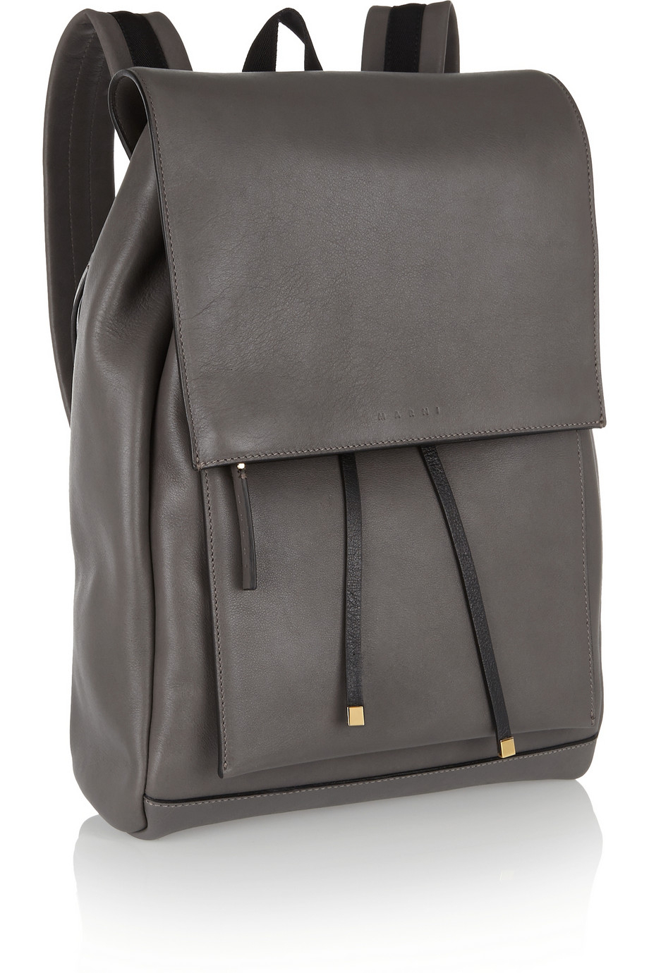 Gray Leather Backpack 22T00aZX