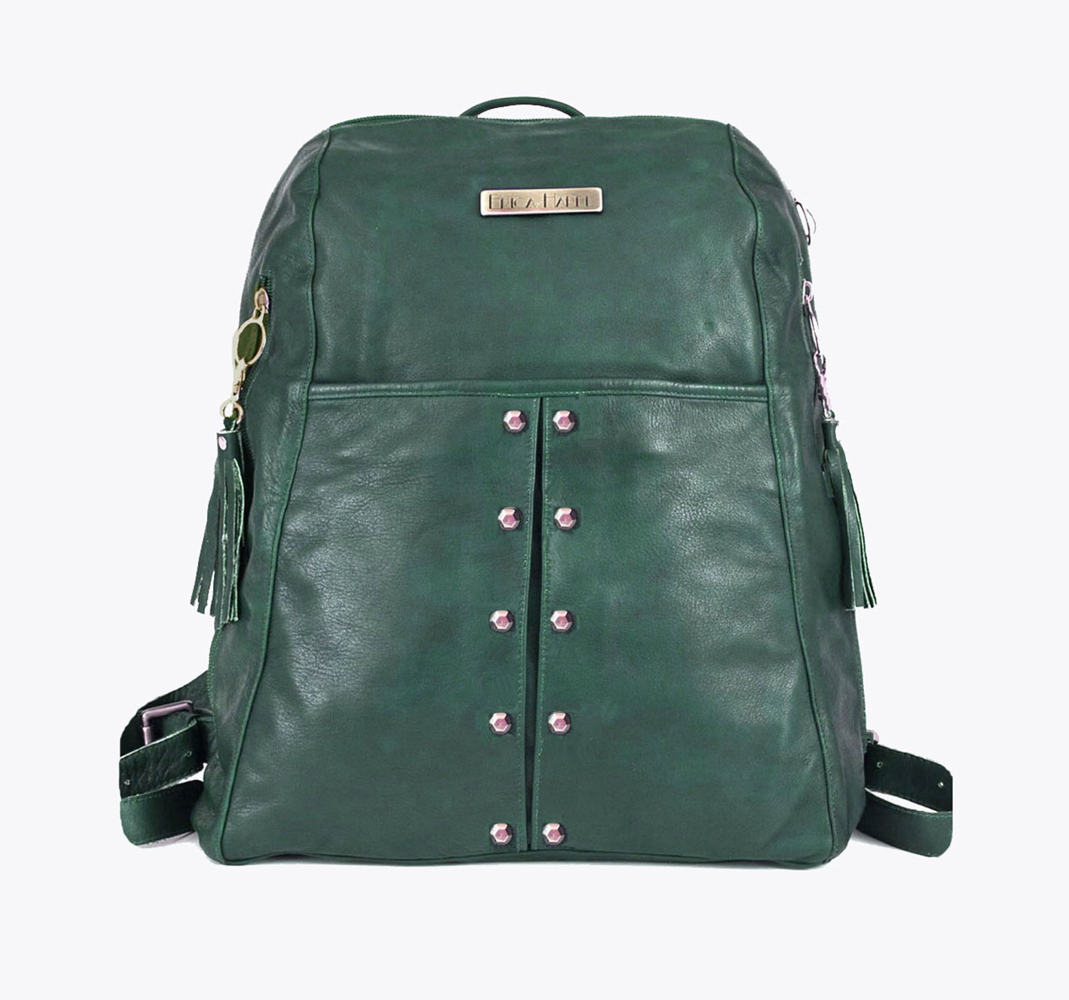 Green Leather Backpack LmfBb2wk