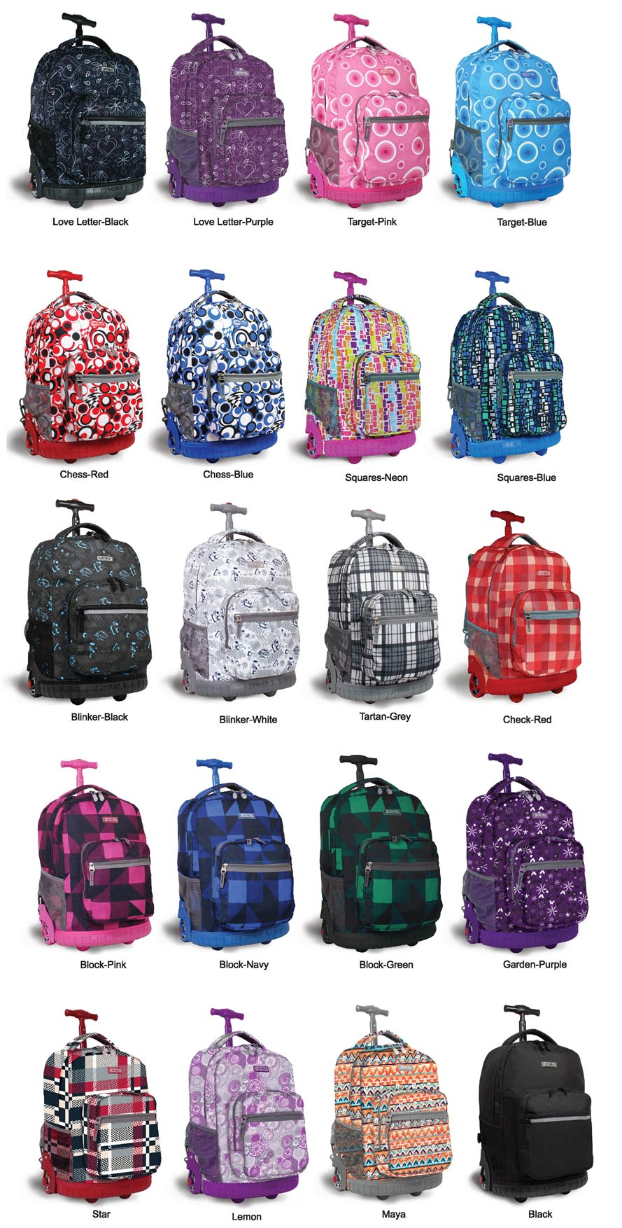 J World Rolling Backpack 52L7GYx8