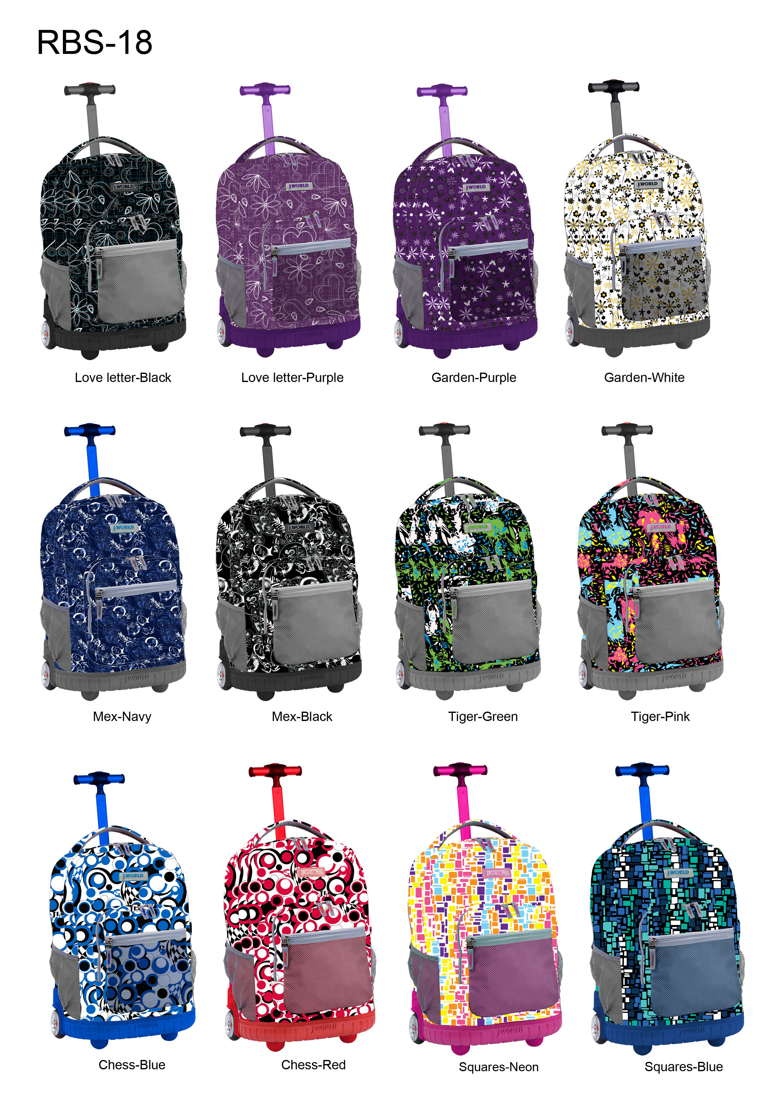 J World Rolling Backpack PHuDfq6h