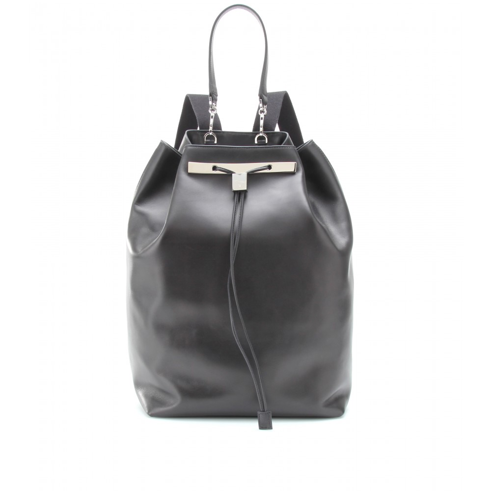 Leather Black Backpack 2MWokylU