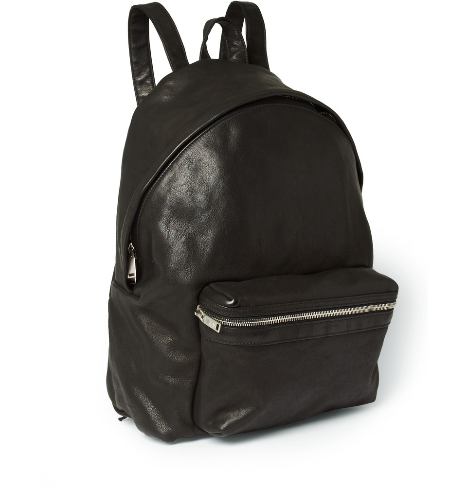 Leather Black Backpack TkenfZEk