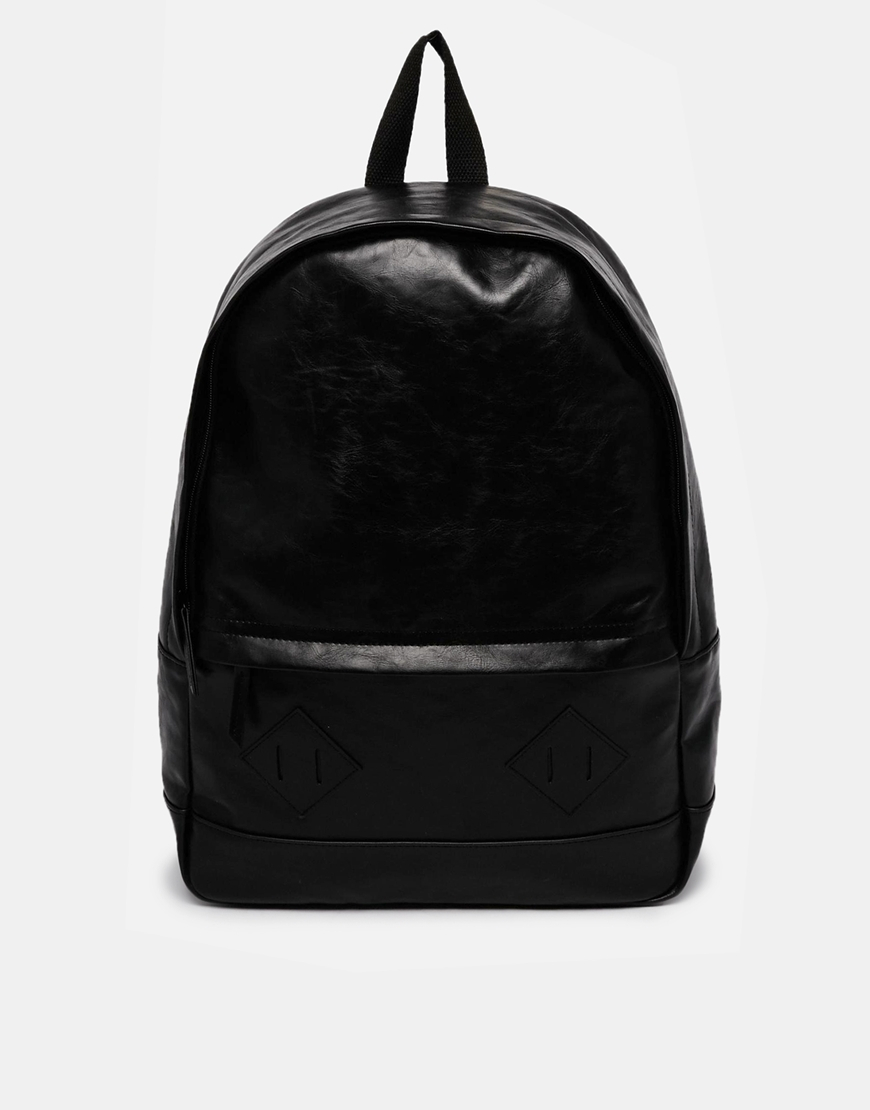 Leather Black Backpack HJuUES9i