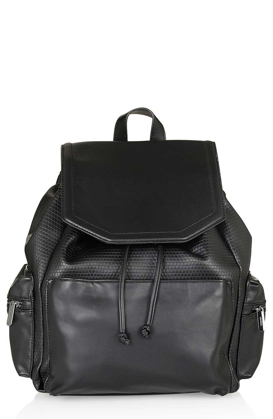 Leather Black Backpack posTOsnF