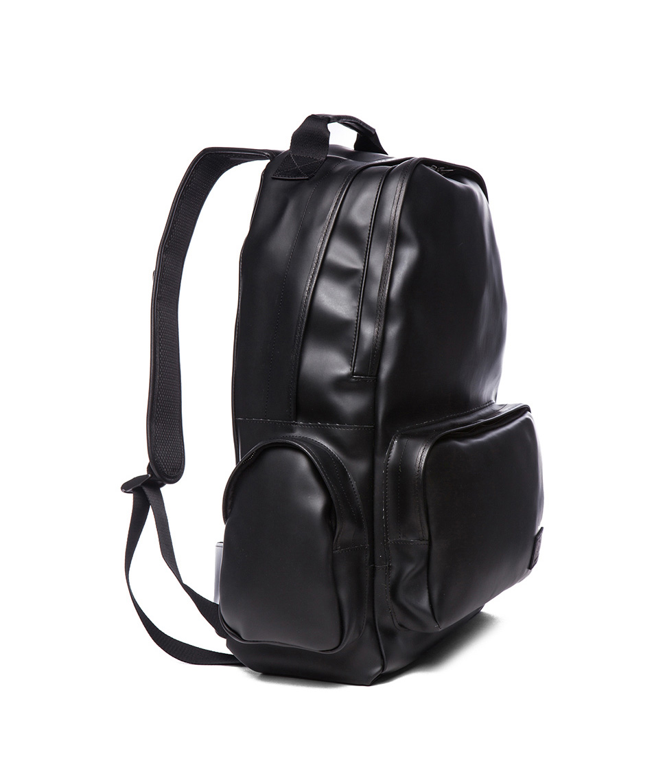 Leather Black Backpack aOzU5t3l