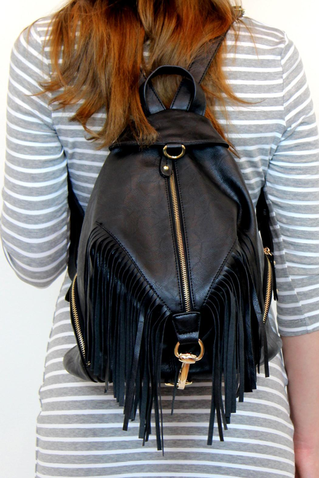 Leather Fringe Backpack 6x0t2h1P