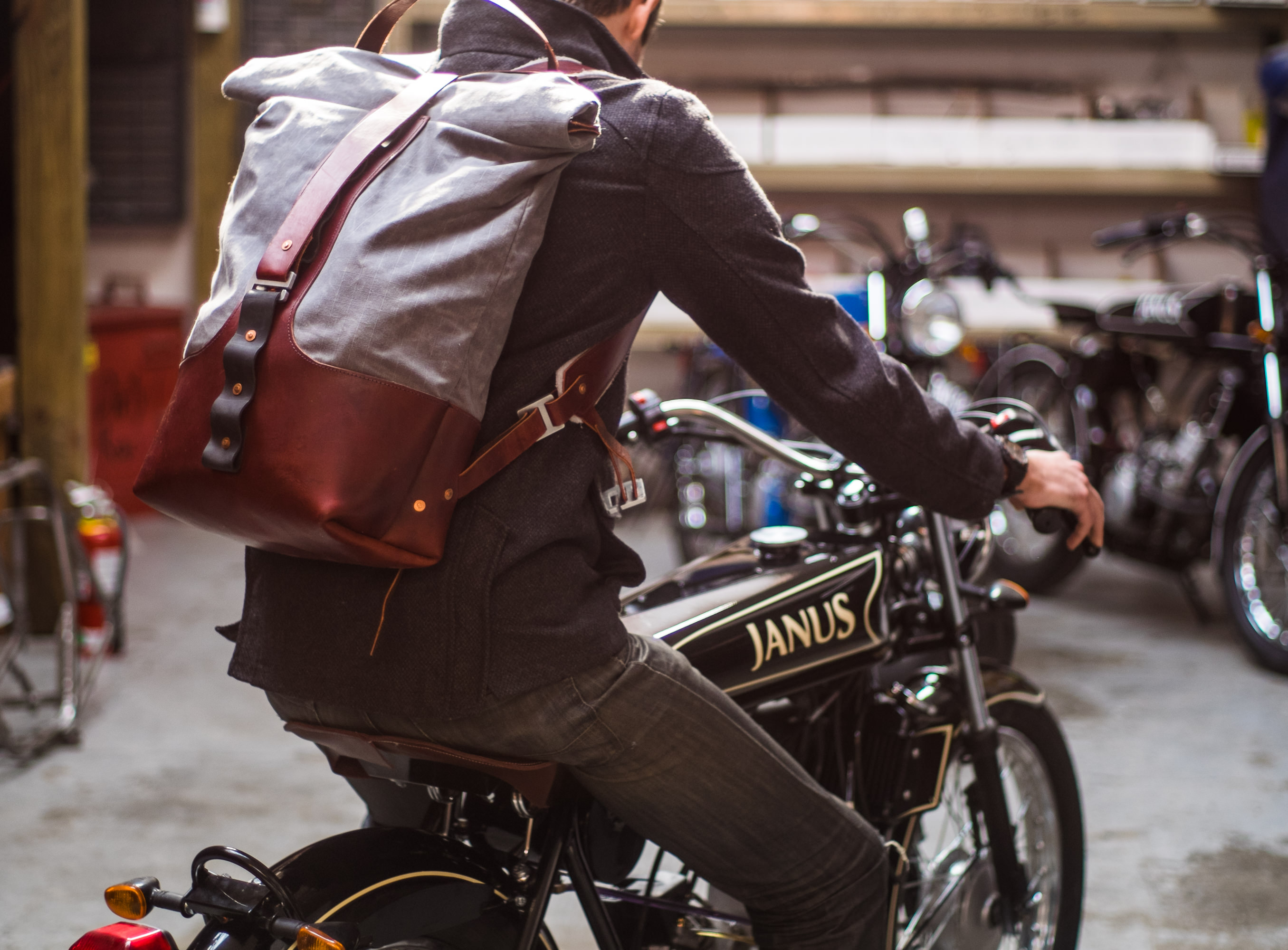 Leather Motorcycle Backpack iHDUFkFF