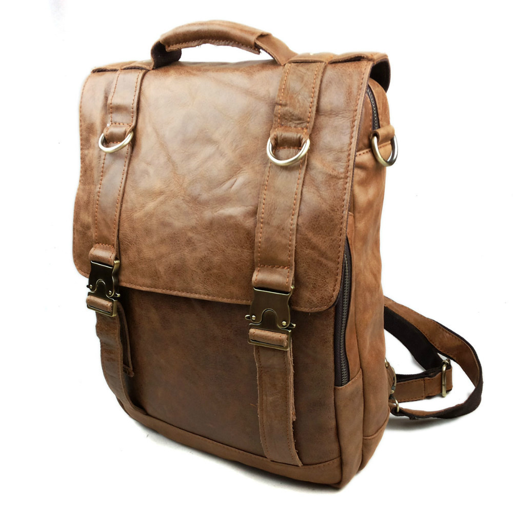 Leather Motorcycle Backpack iulKnrX4