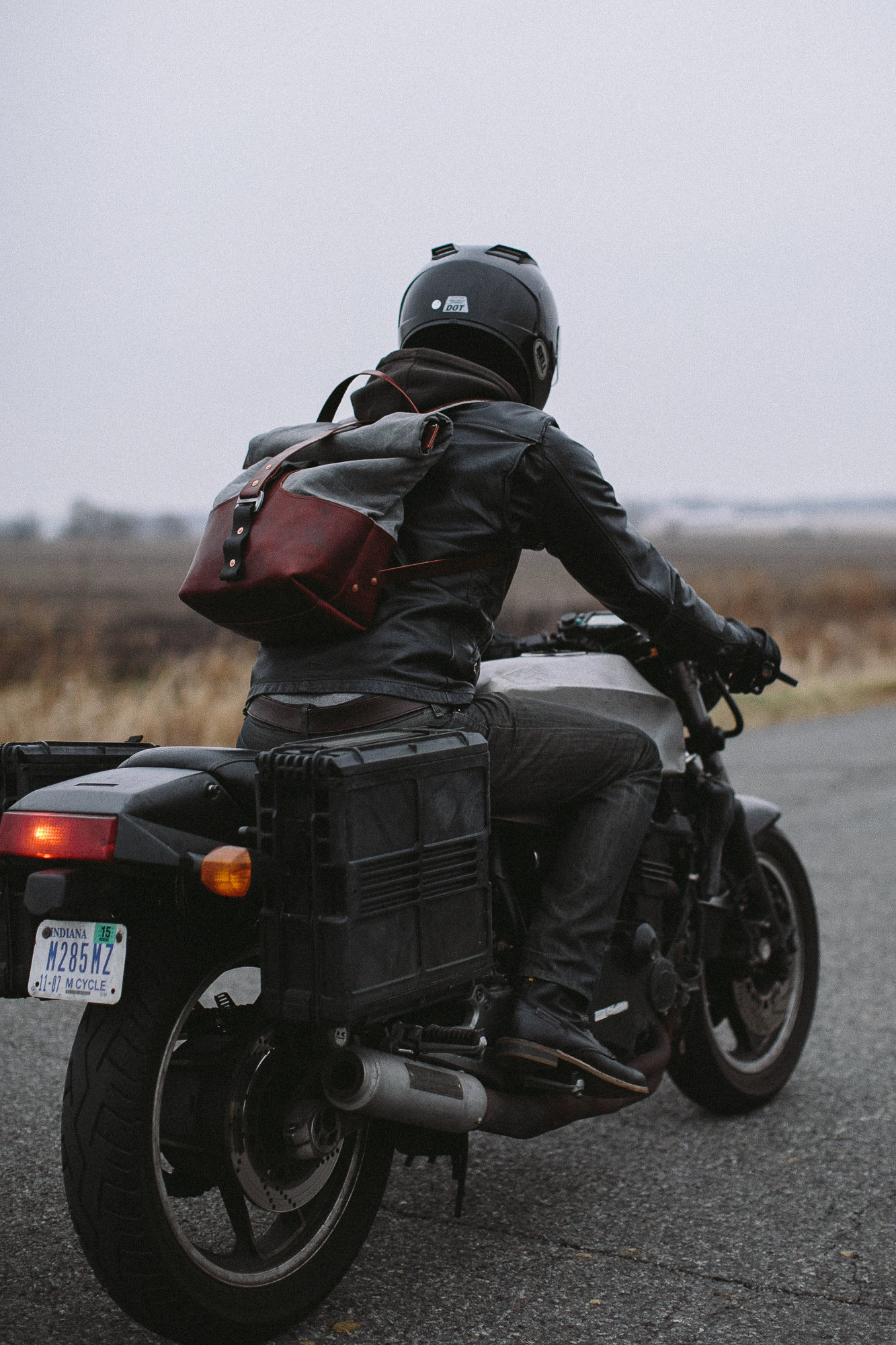 Leather Motorcycle Backpack 0Nmz0AN2