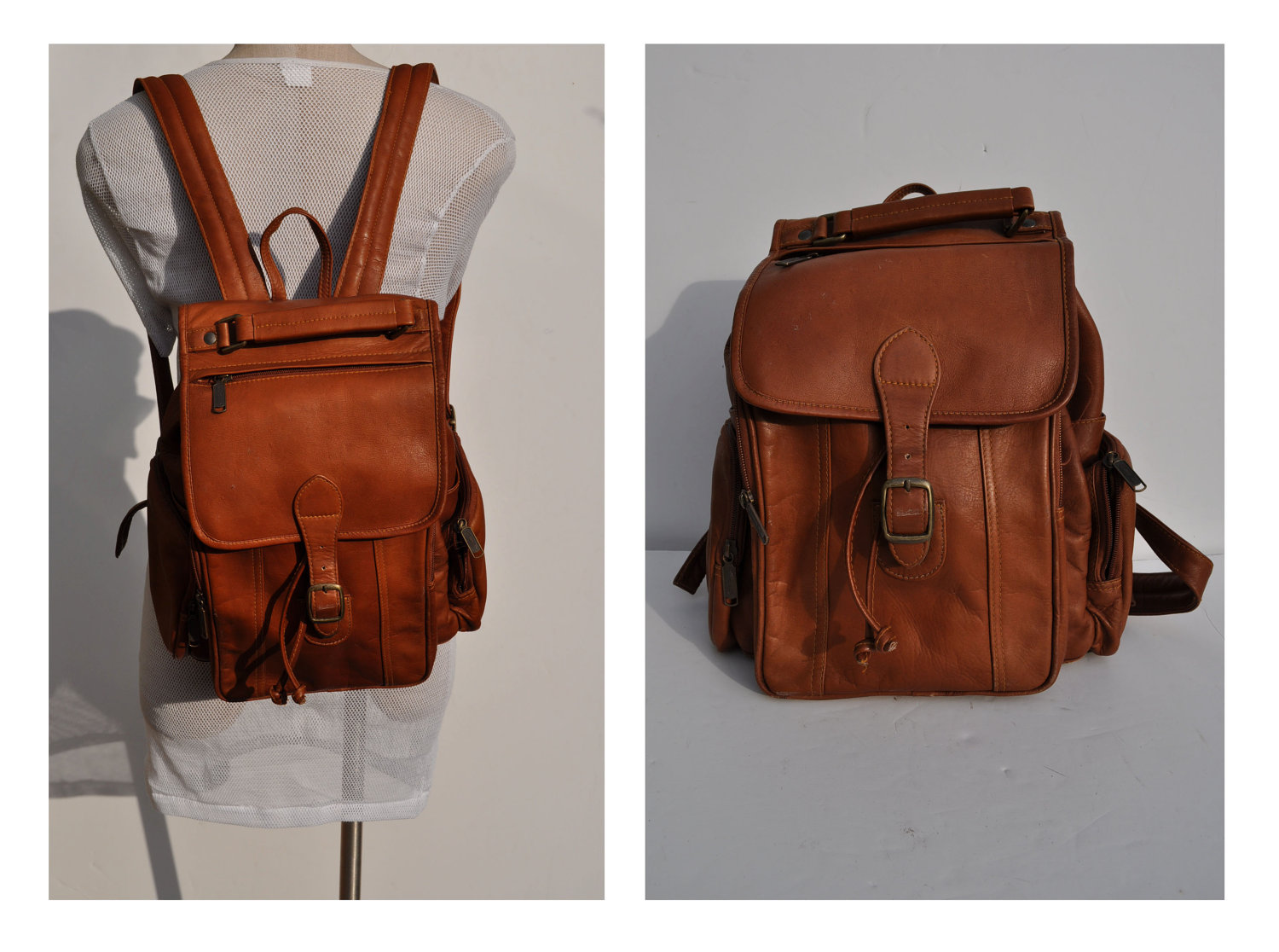 Leather Rucksack Backpack NAuuN21e