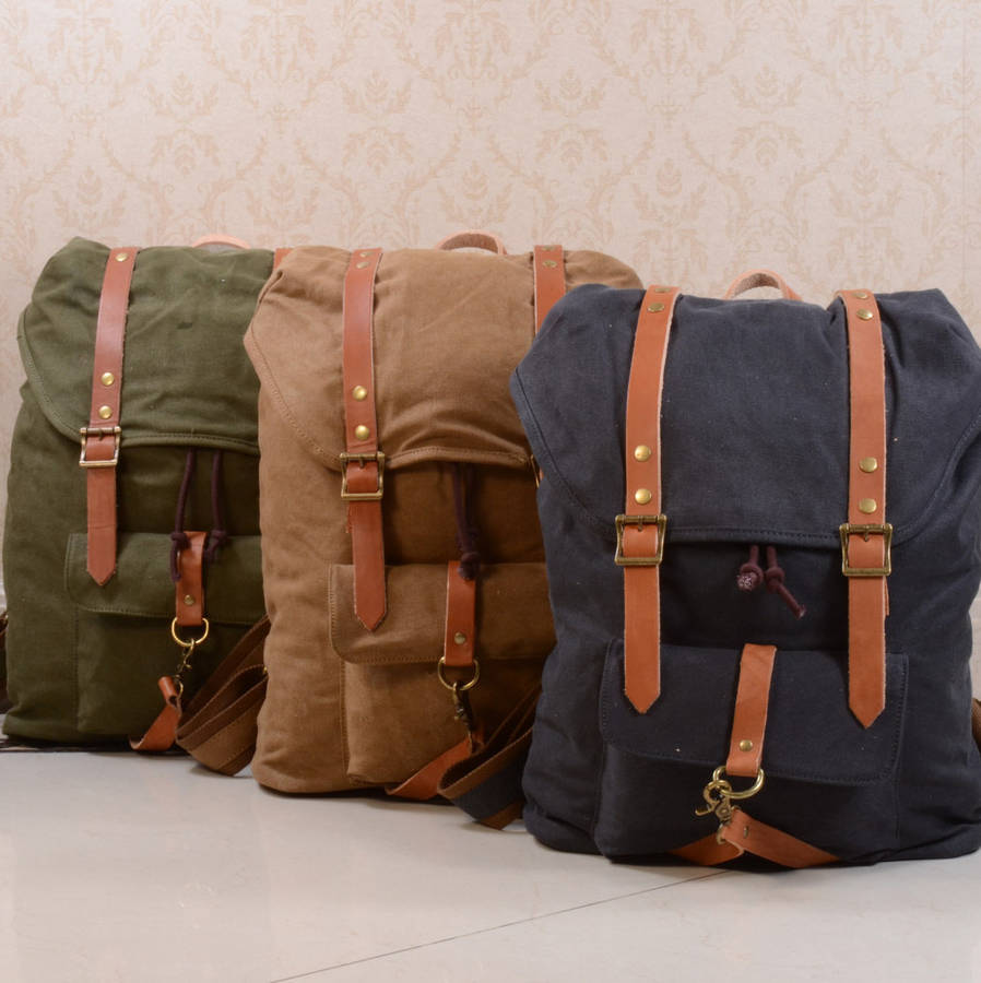 Leather Strap Backpack I2AAz3Md