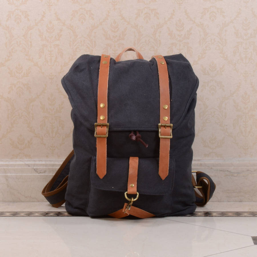 Leather Strap Backpack DrA10j8Z
