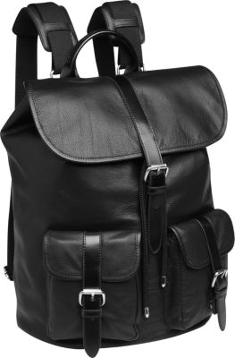 Mens Black Leather Backpack HHSKDuzd
