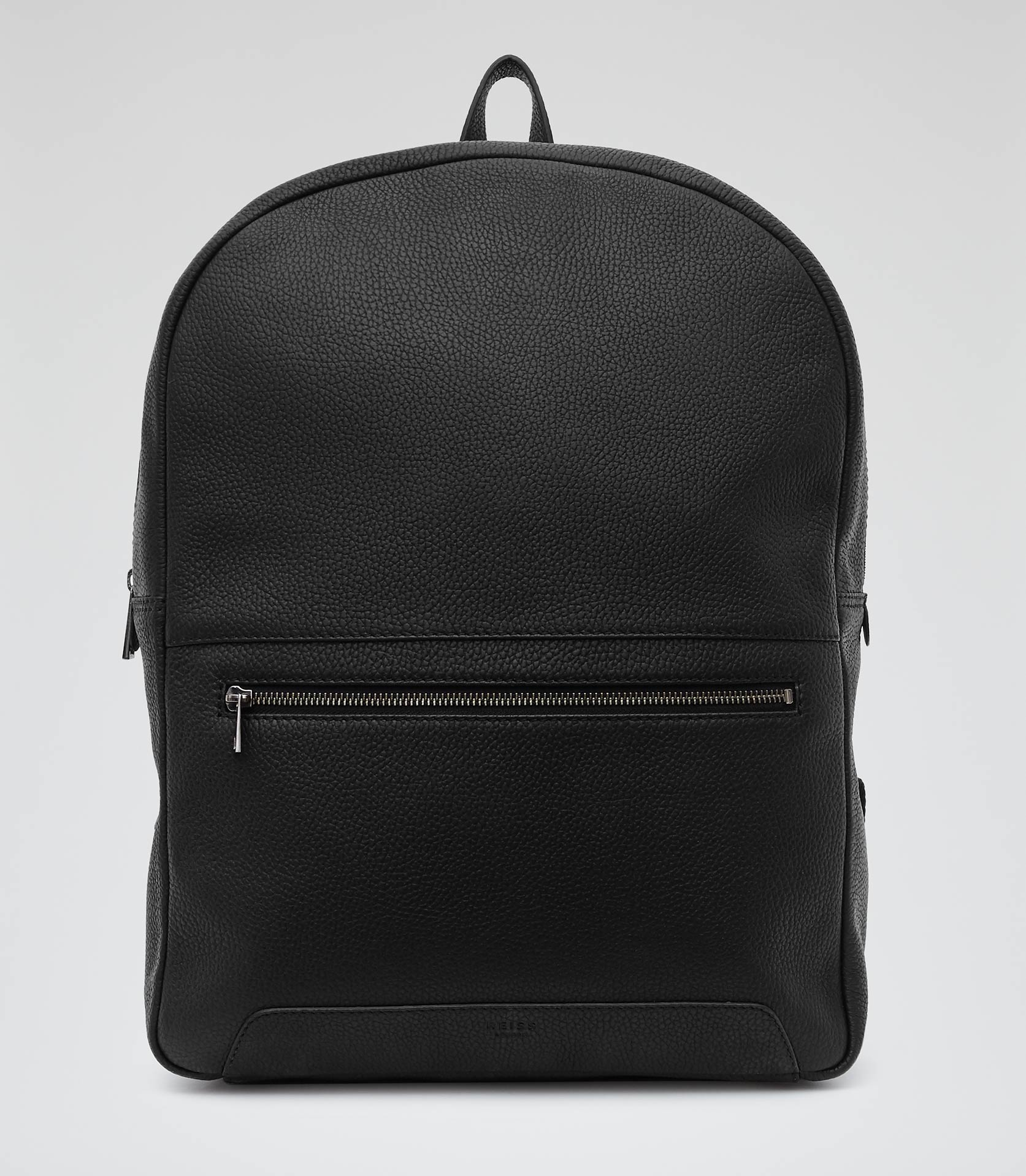 Mens Black Leather Backpack IMVQjrhI