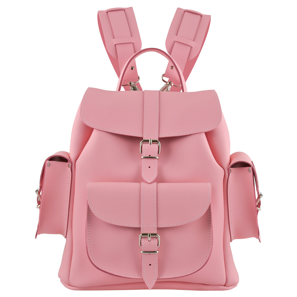 Pink Leather Backpack Hzh6nfF3