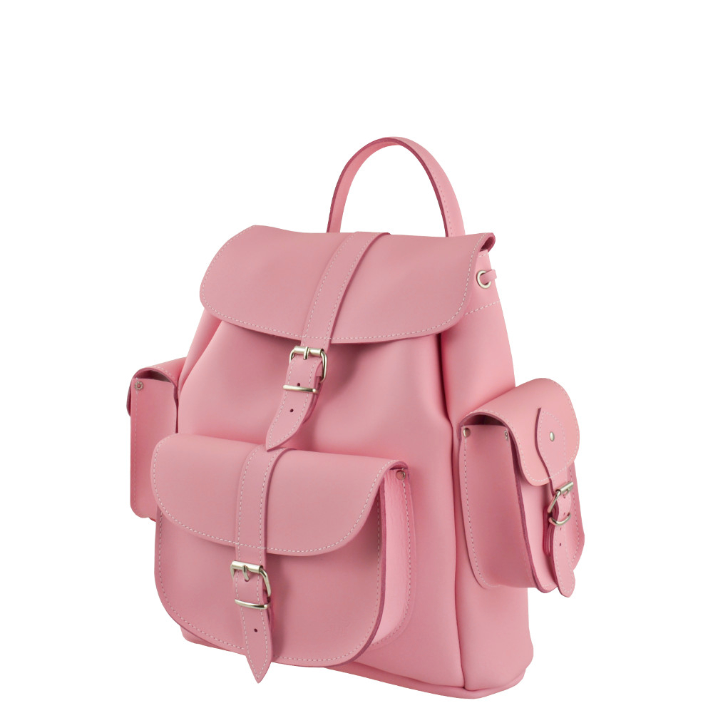Pink Leather Backpack QOYwLLHn