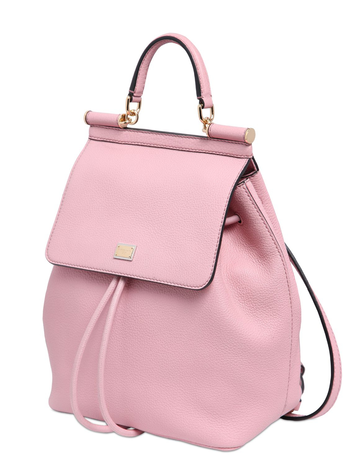 Pink Leather Backpack o6WvKoVK