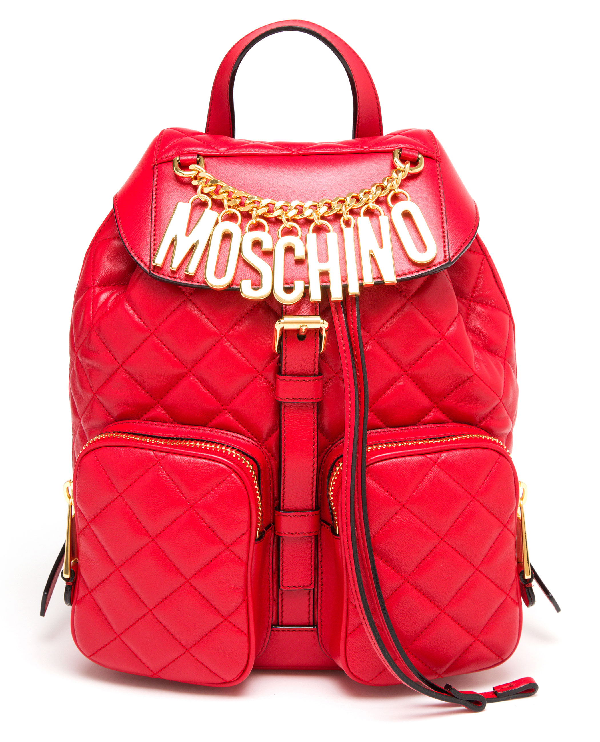 Red Leather Backpack A5cJAgny