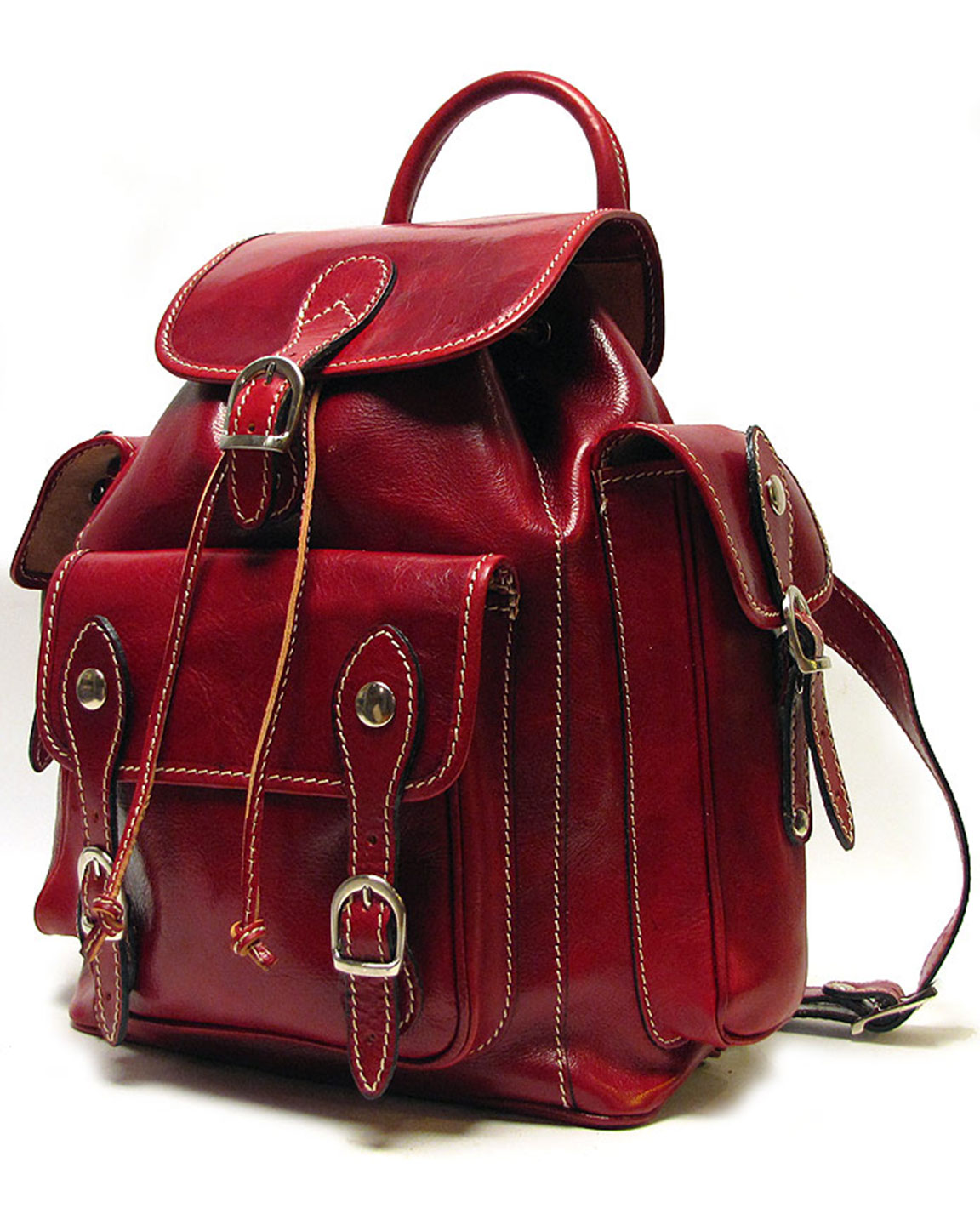 Red Leather Backpack kdoqAHBZ
