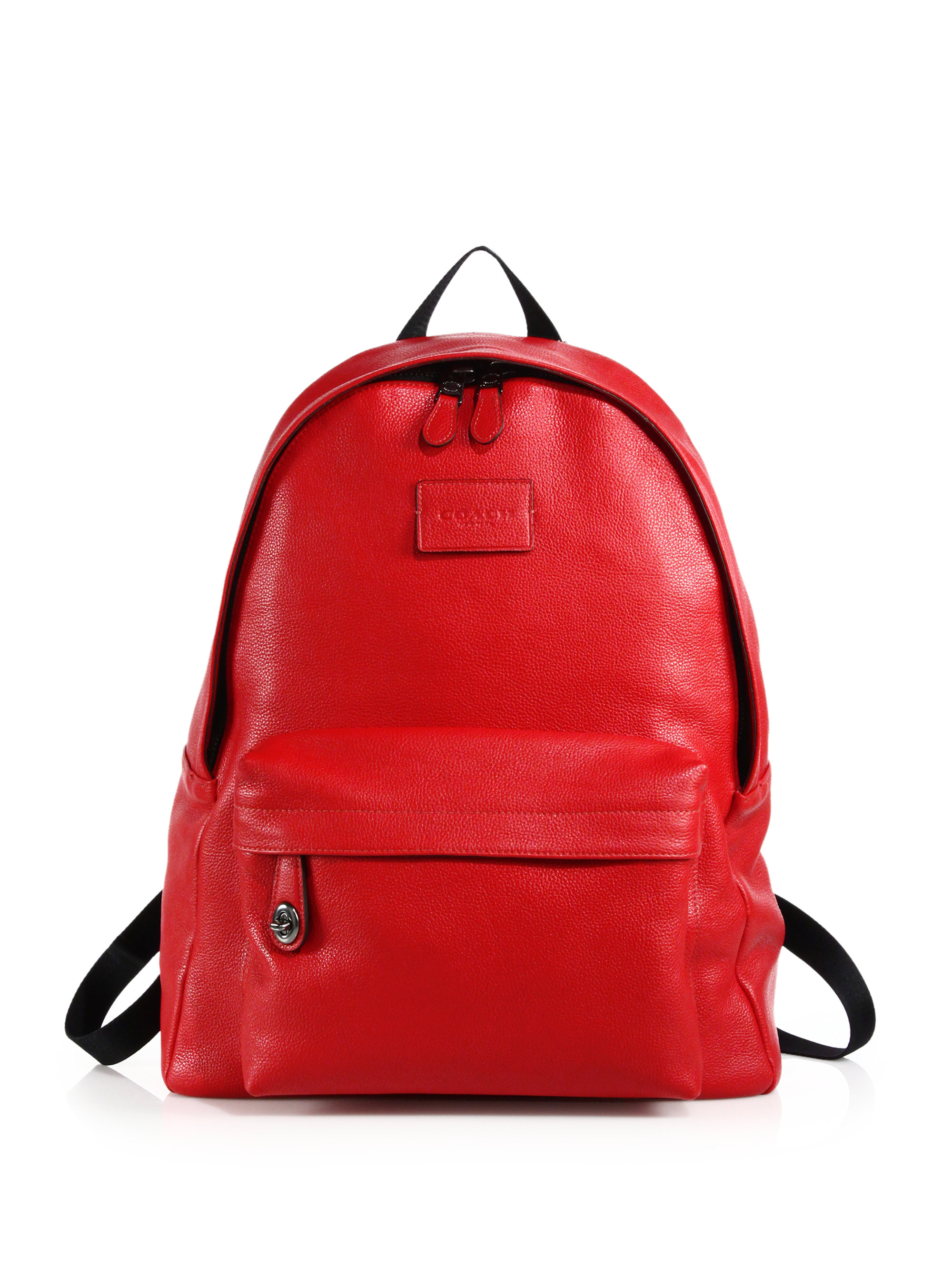 Red Leather Backpack uQzdEdQm