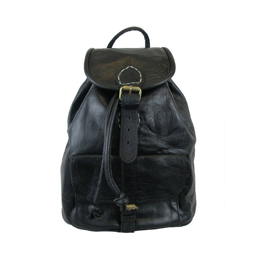 Small Black Leather Backpack - Backpakc Fam 0c5d3aaa5ef84