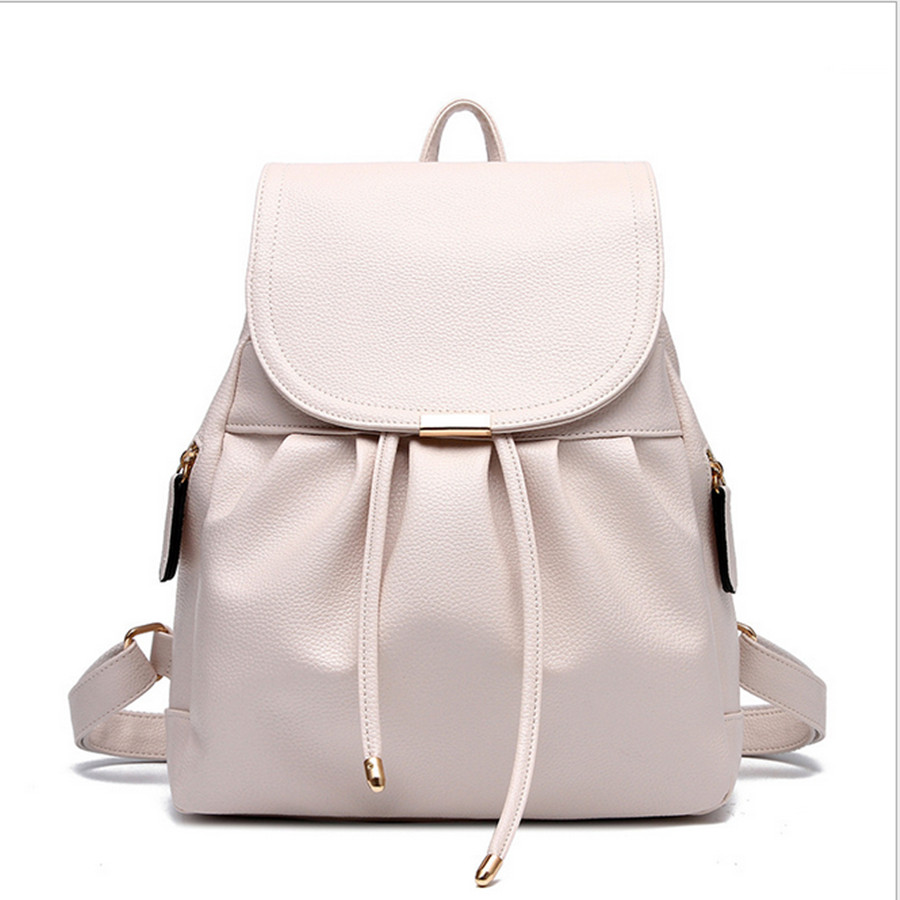 White Backpack Purse 803tHDHM