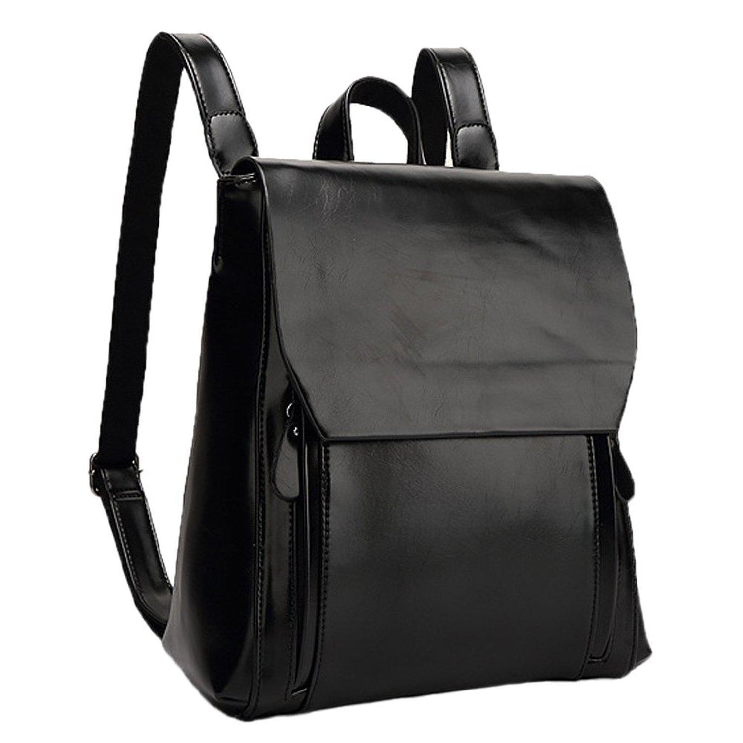 Womens Black Leather Backpack myPYwDhN