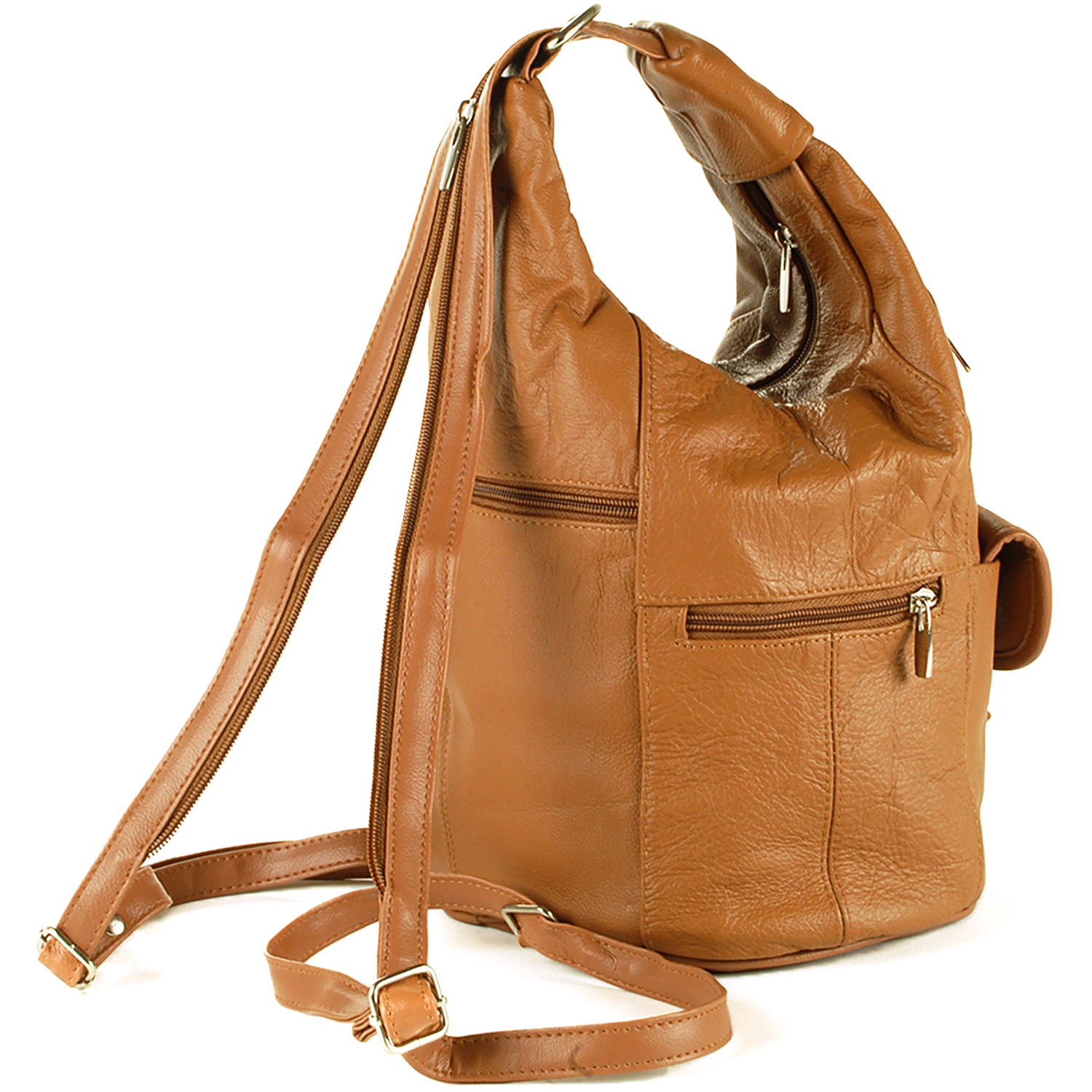 Convertible Leather Backpack Purse A15pakeL