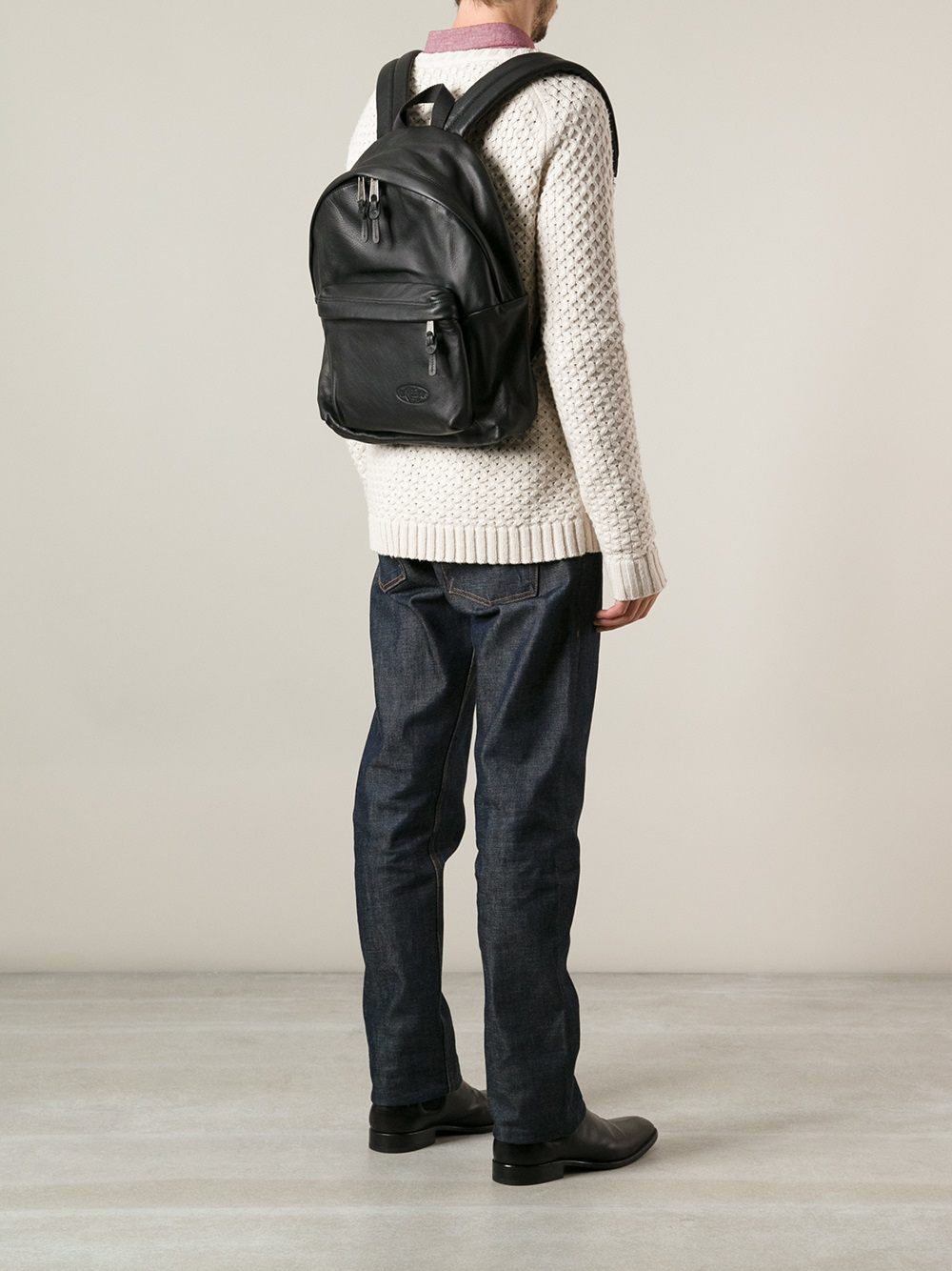 Eastpak Leather Backpack 81eAloq1
