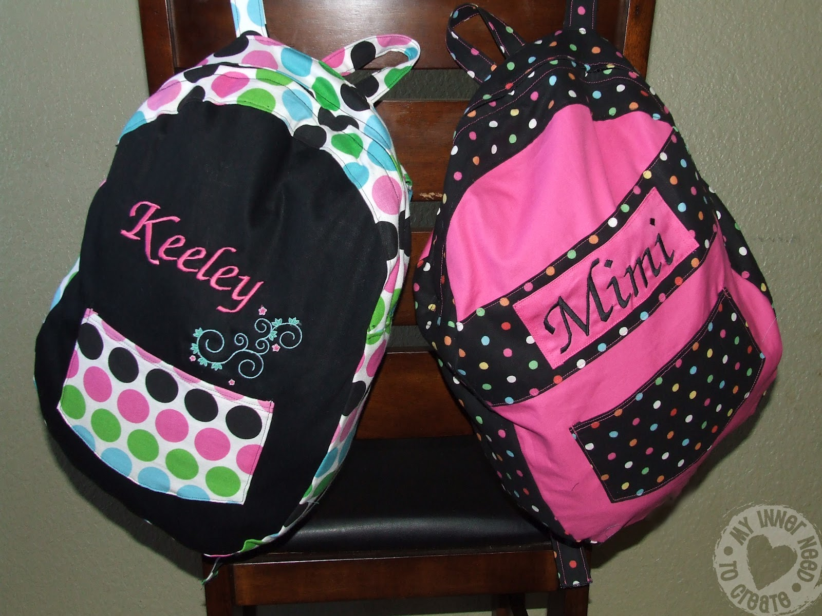 Girls Monogrammed Backpacks J9HN9LIc