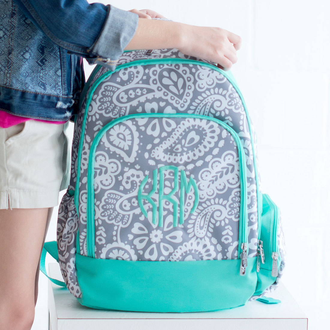 Girls Monogrammed Backpacks RdavD0xJ