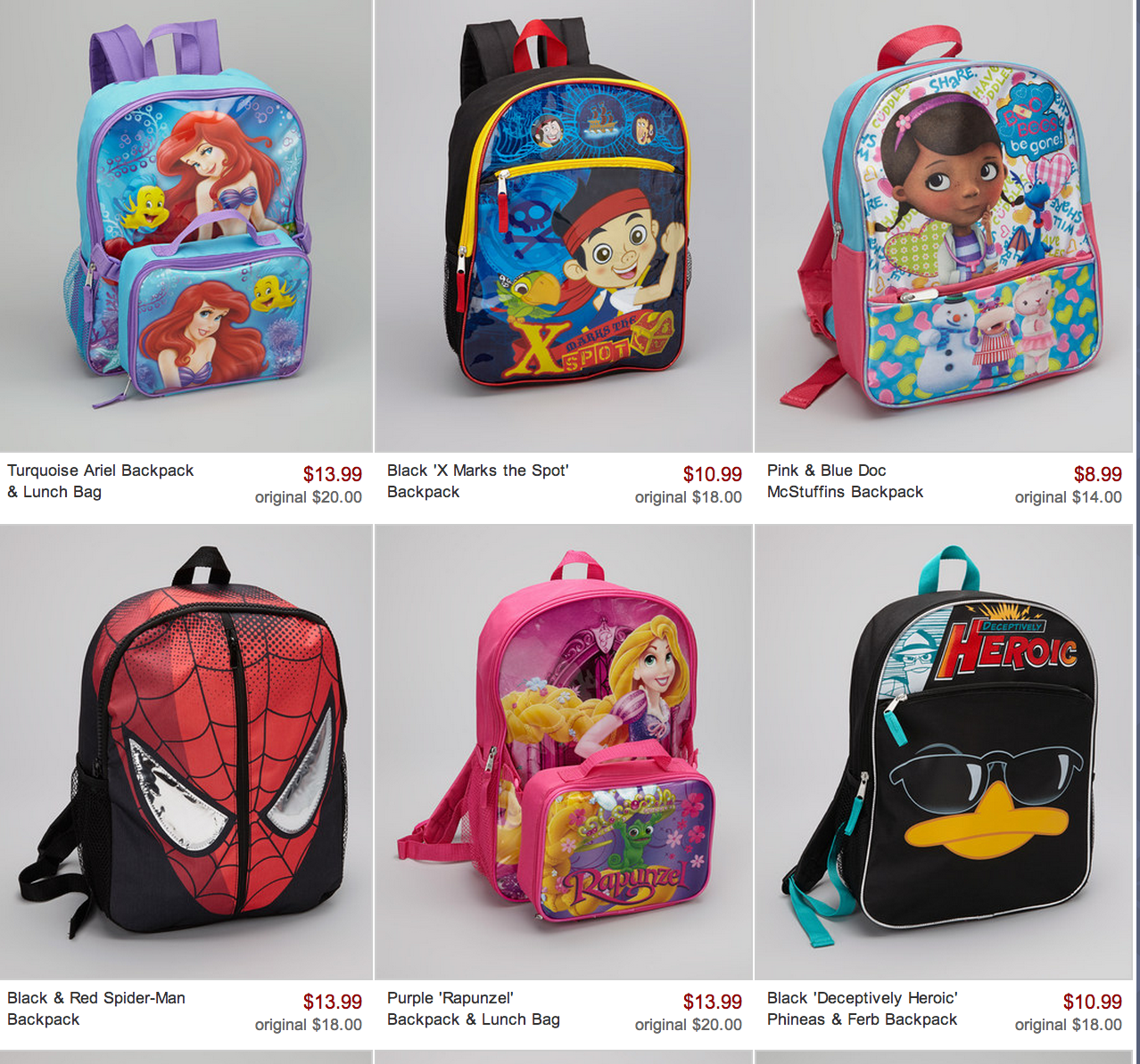 Kids Character Backpacks gGGavPQT