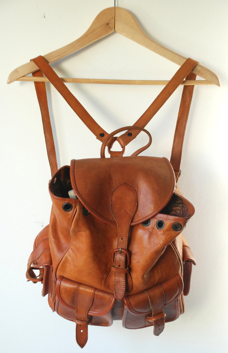 Leather Brown Backpack d6i3cbtG