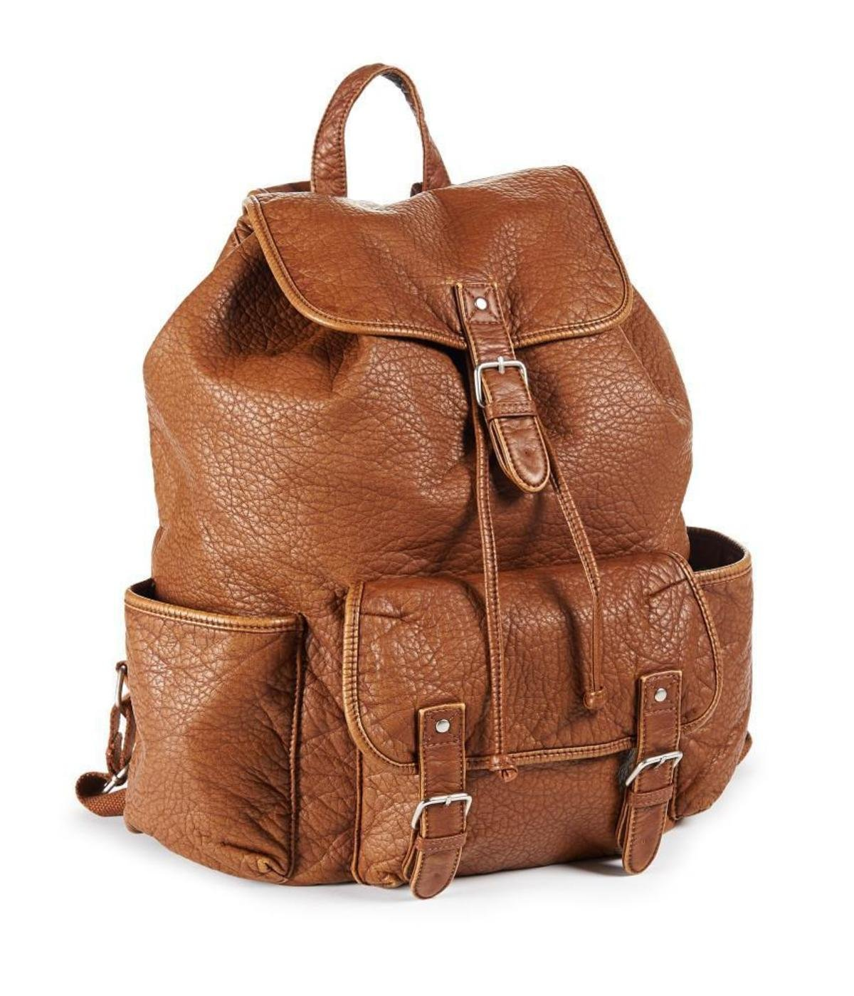 Leather Brown Backpack tpowThJo
