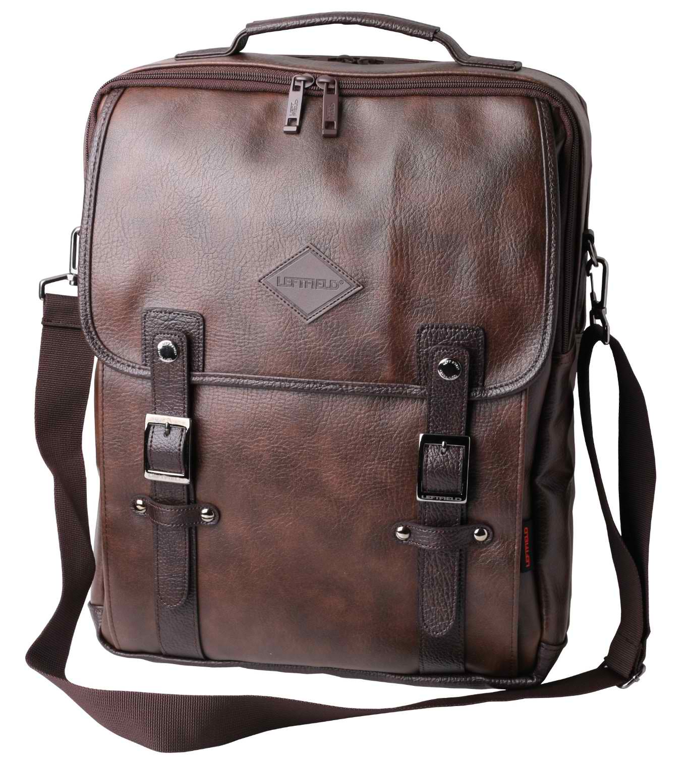 Leather Messenger Backpack bSAVw6x2