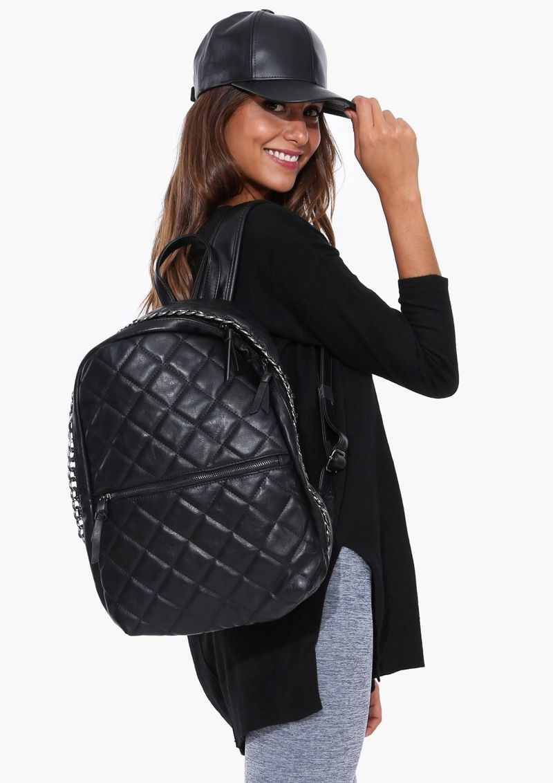 Leather Quilted Backpack X6VGqwcd