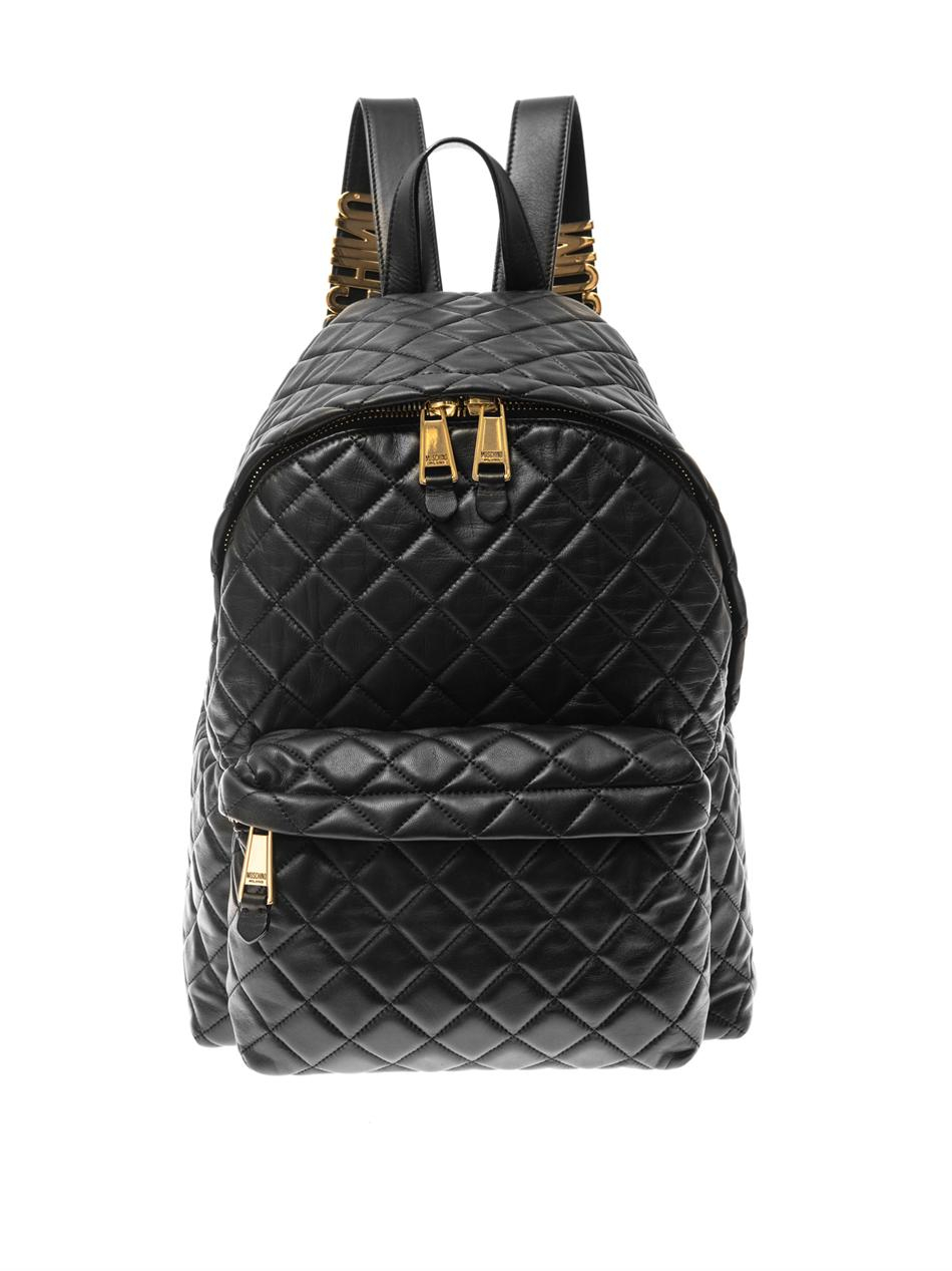 Leather Quilted Backpack zg6rZ1h1