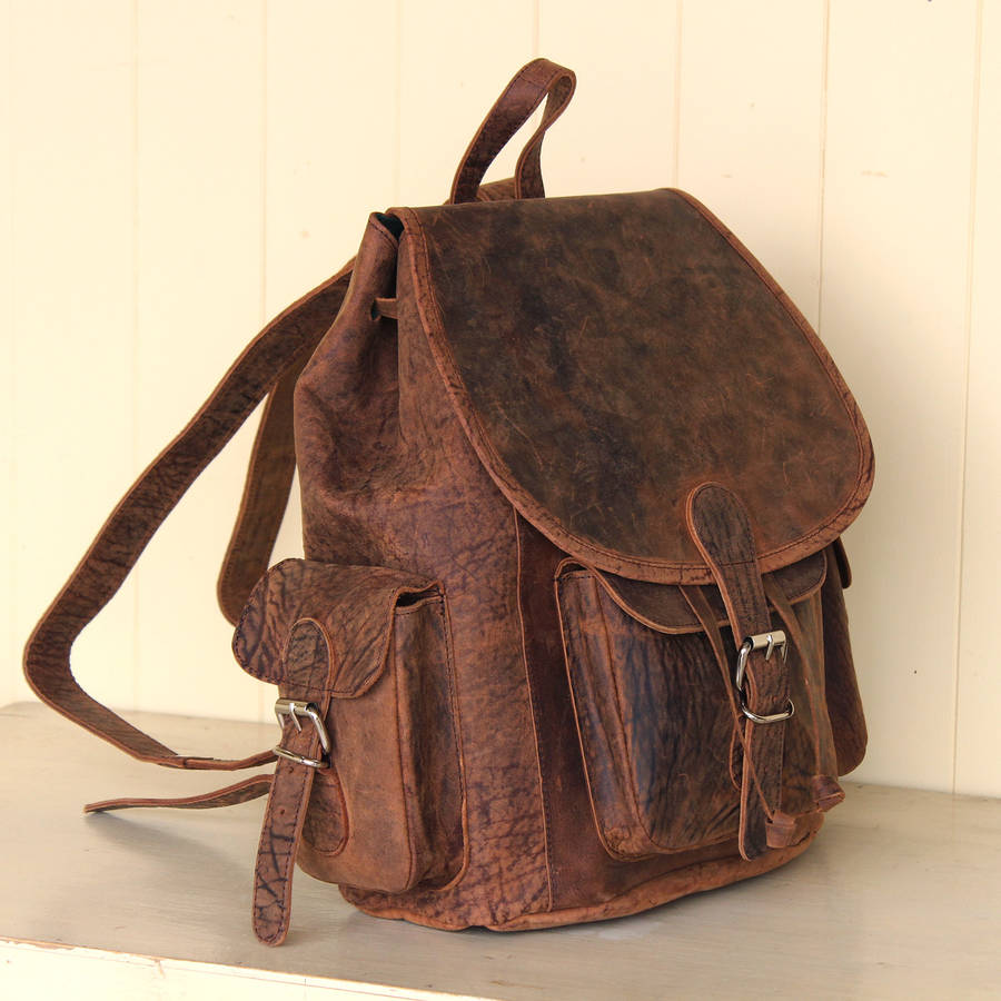 Leather Vintage Backpack e5ID9mAW